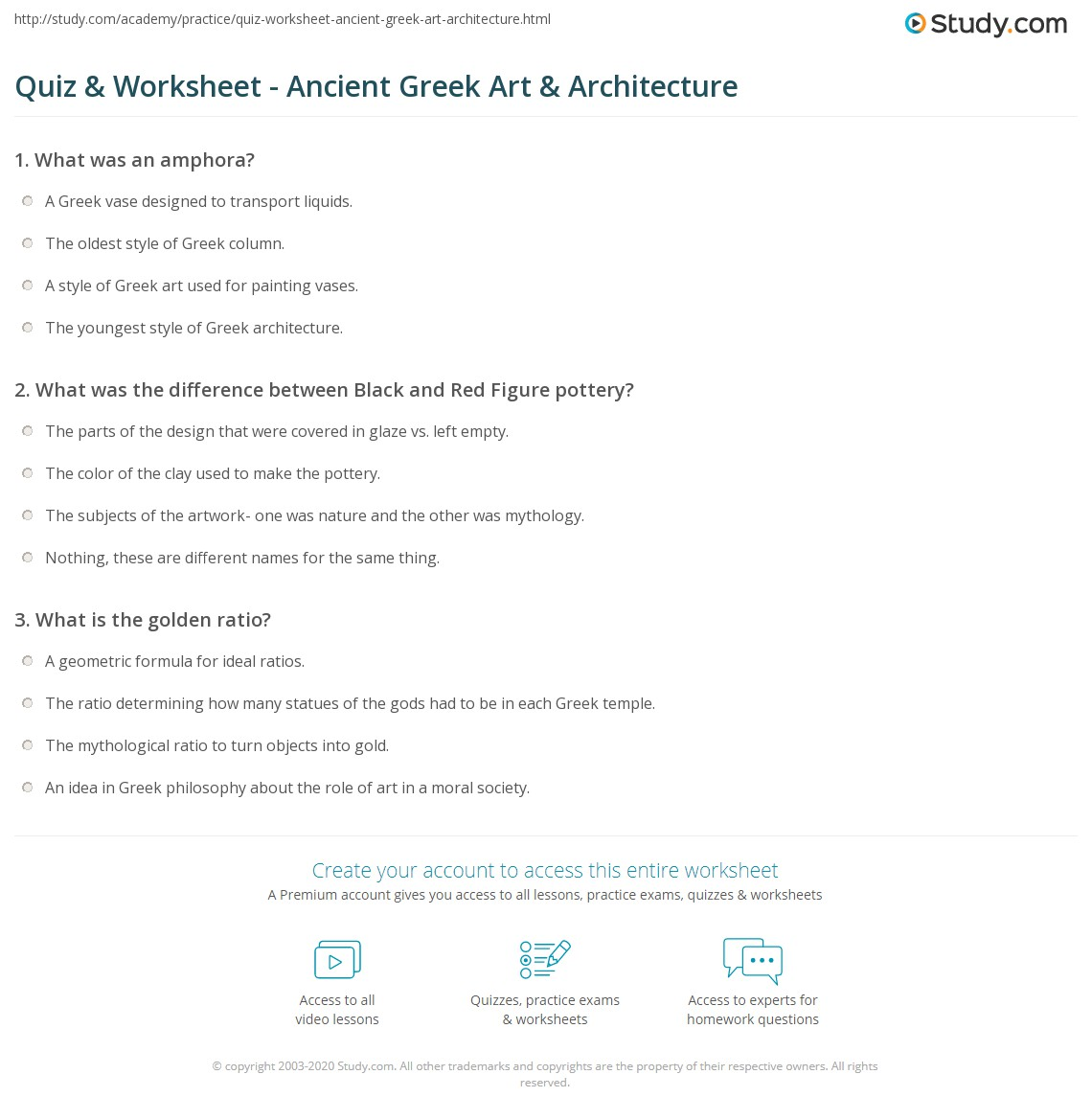 Collection Of Greek Philosophers Worksheet