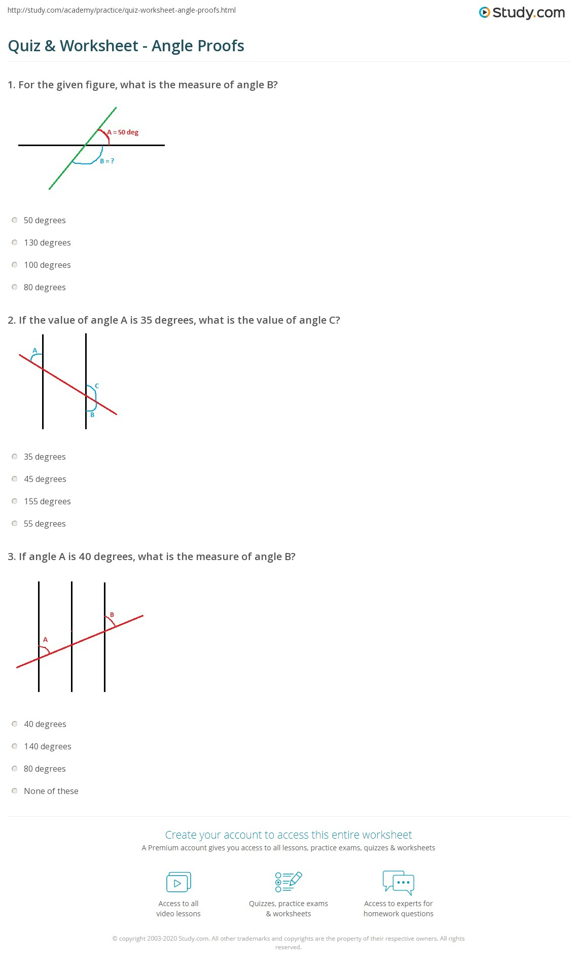 28 Angle Proofs Worksheet With Answers