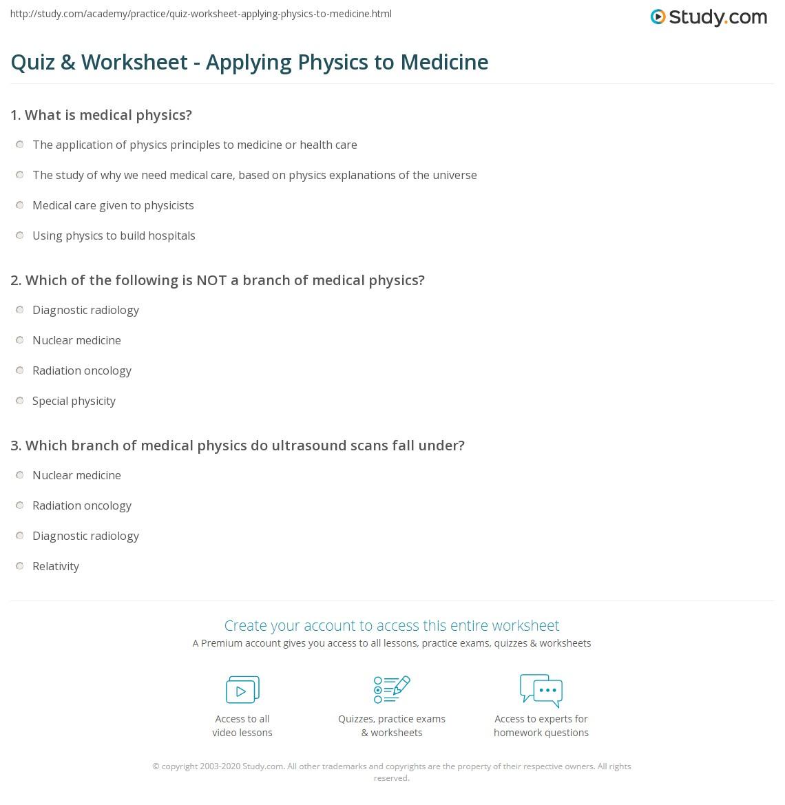 Physics Practice Worksheet