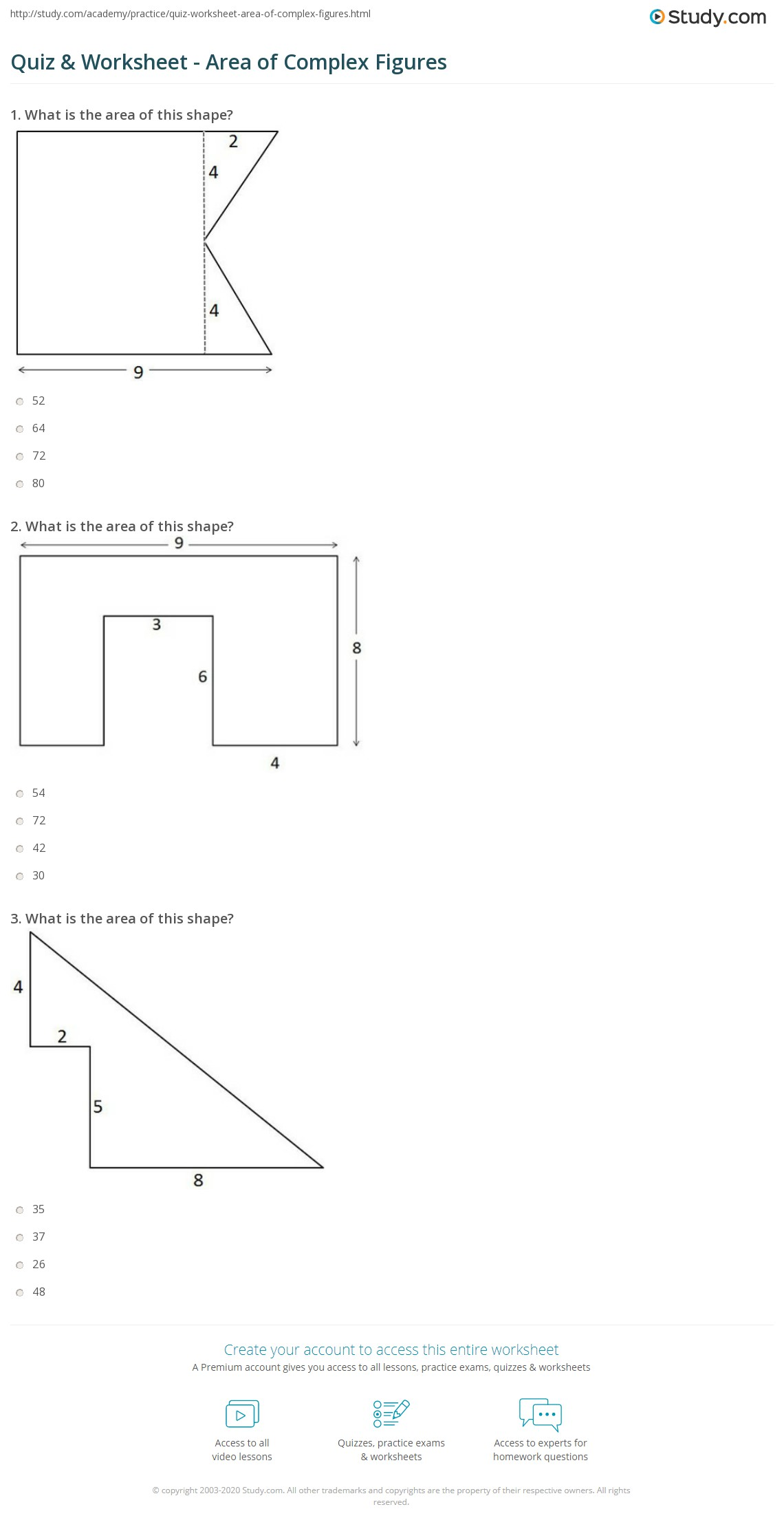 Worksheet Area Of Compound Shapes Worksheet Worksheet