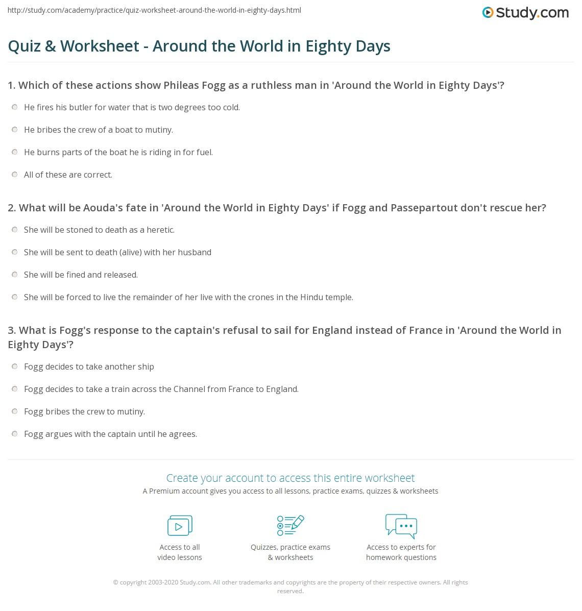 All Around The World Worksheet
