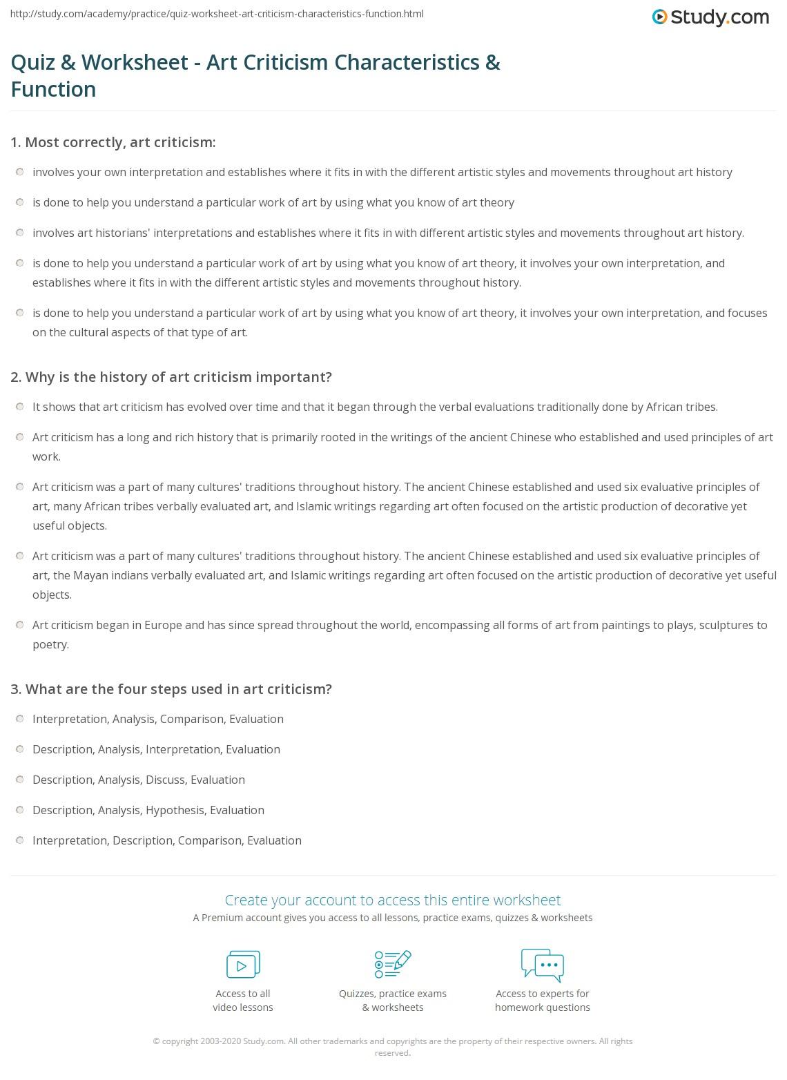 Criticalysis Worksheet Free Printable Textysis
