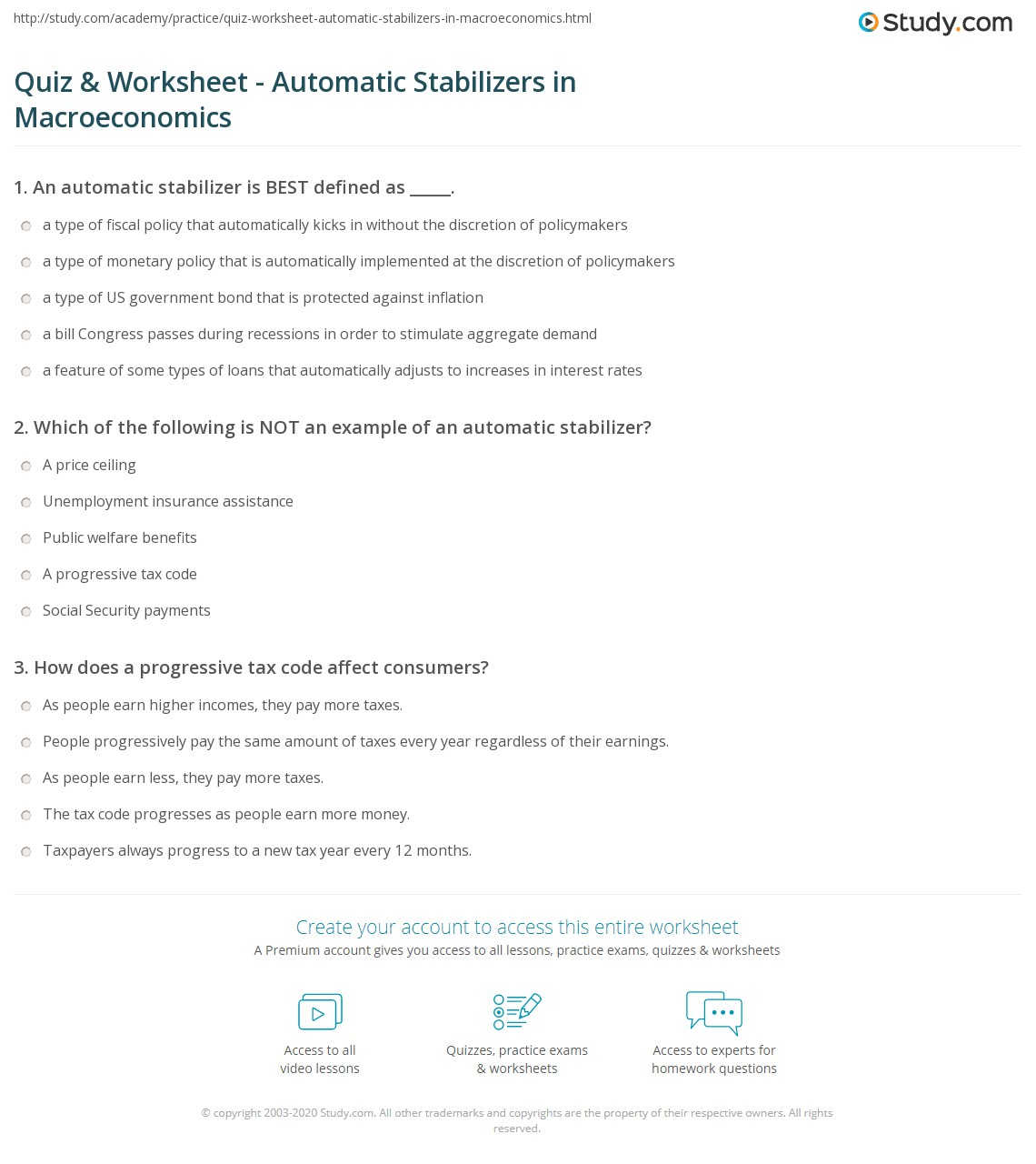 Macroeconomics Unemployment Worksheet