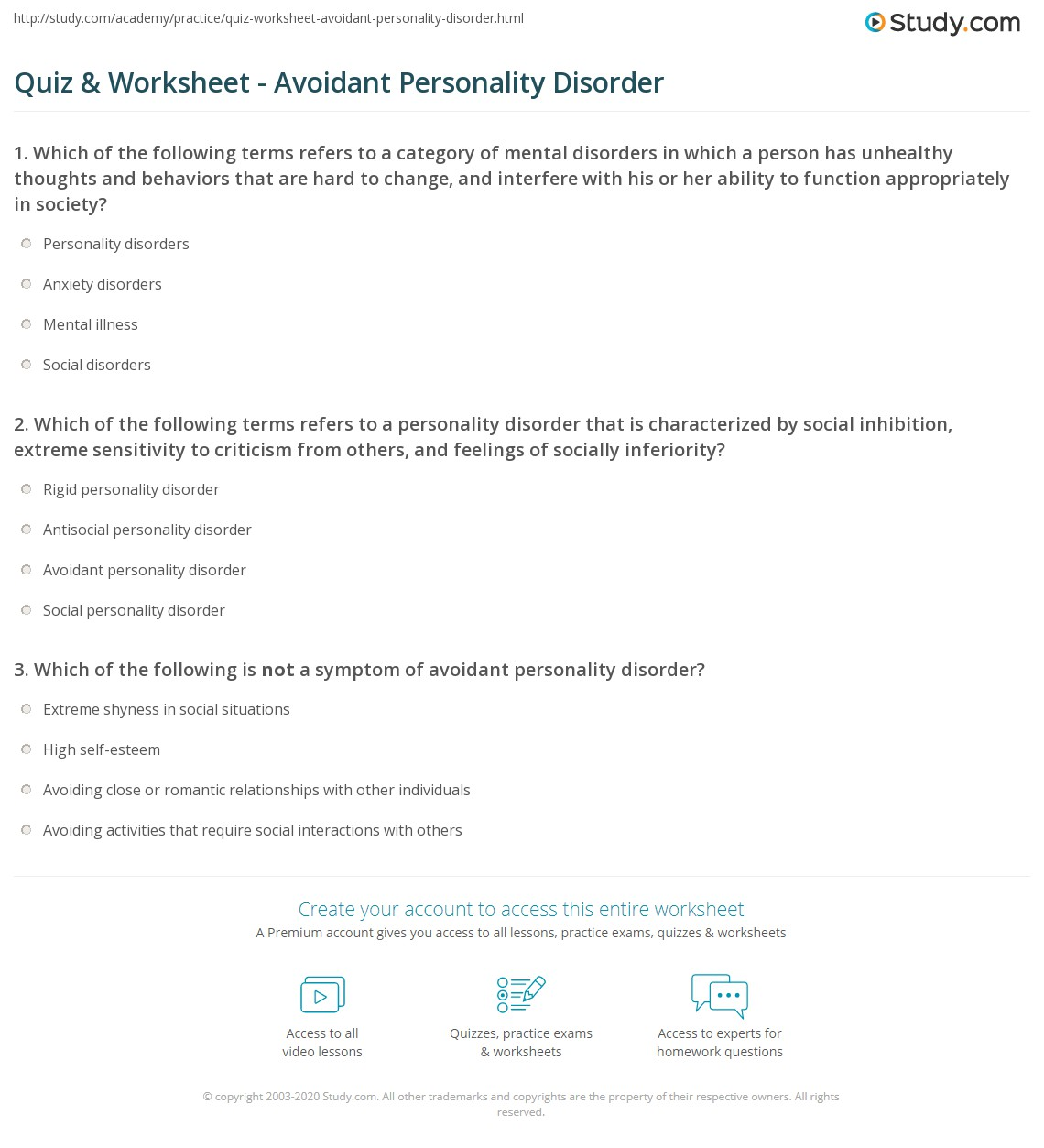 Generalized Anxiety Disorder Diagnosis