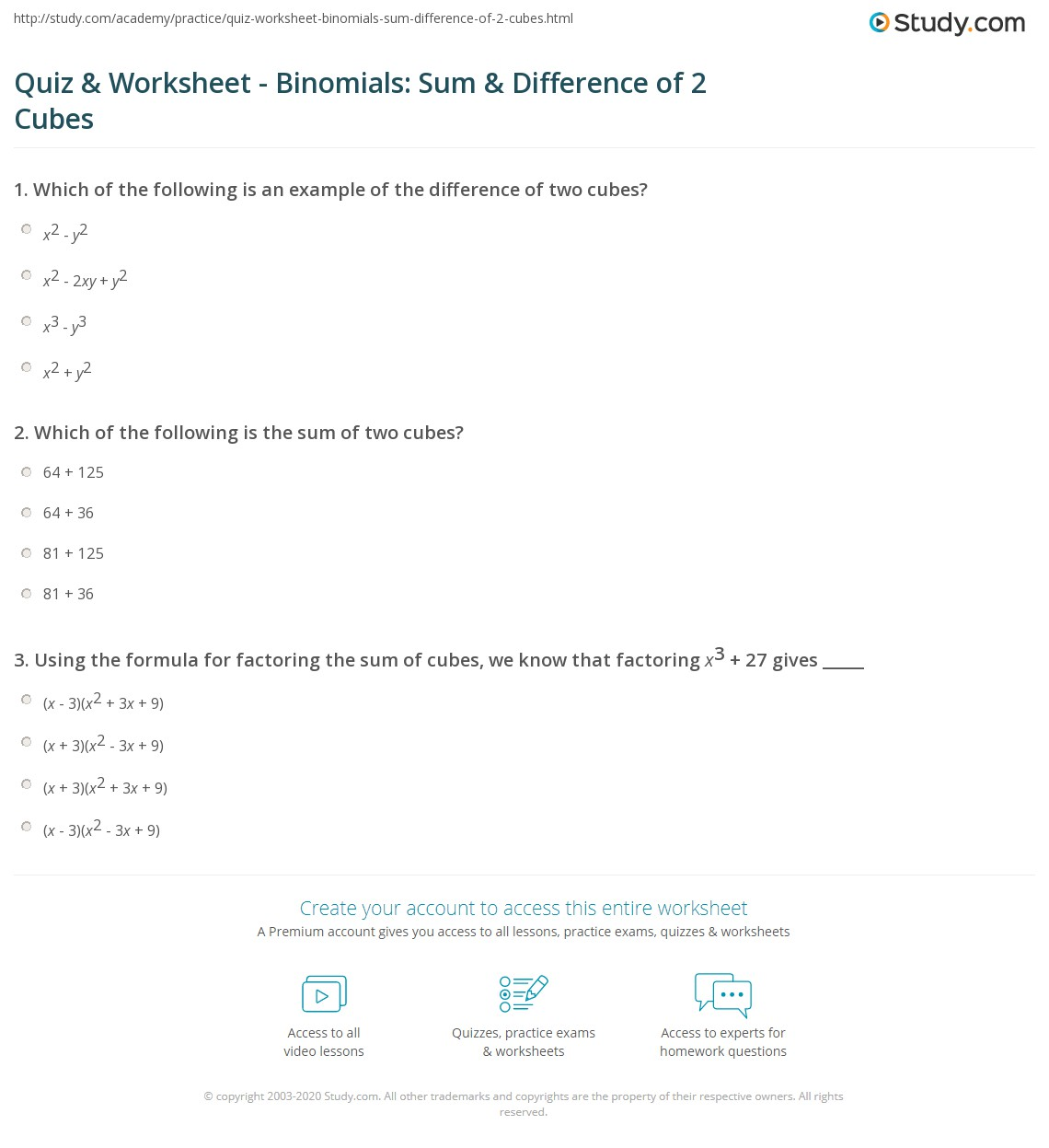 Sums Of Radicals Binomials And Equations Containing Worksheet