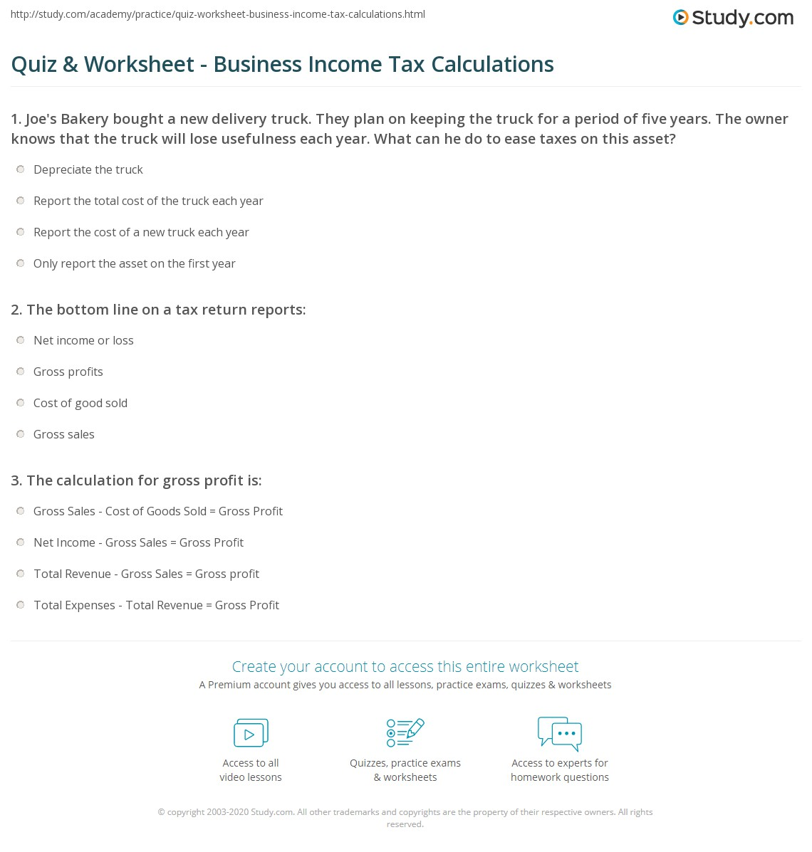 Income Tax Equation