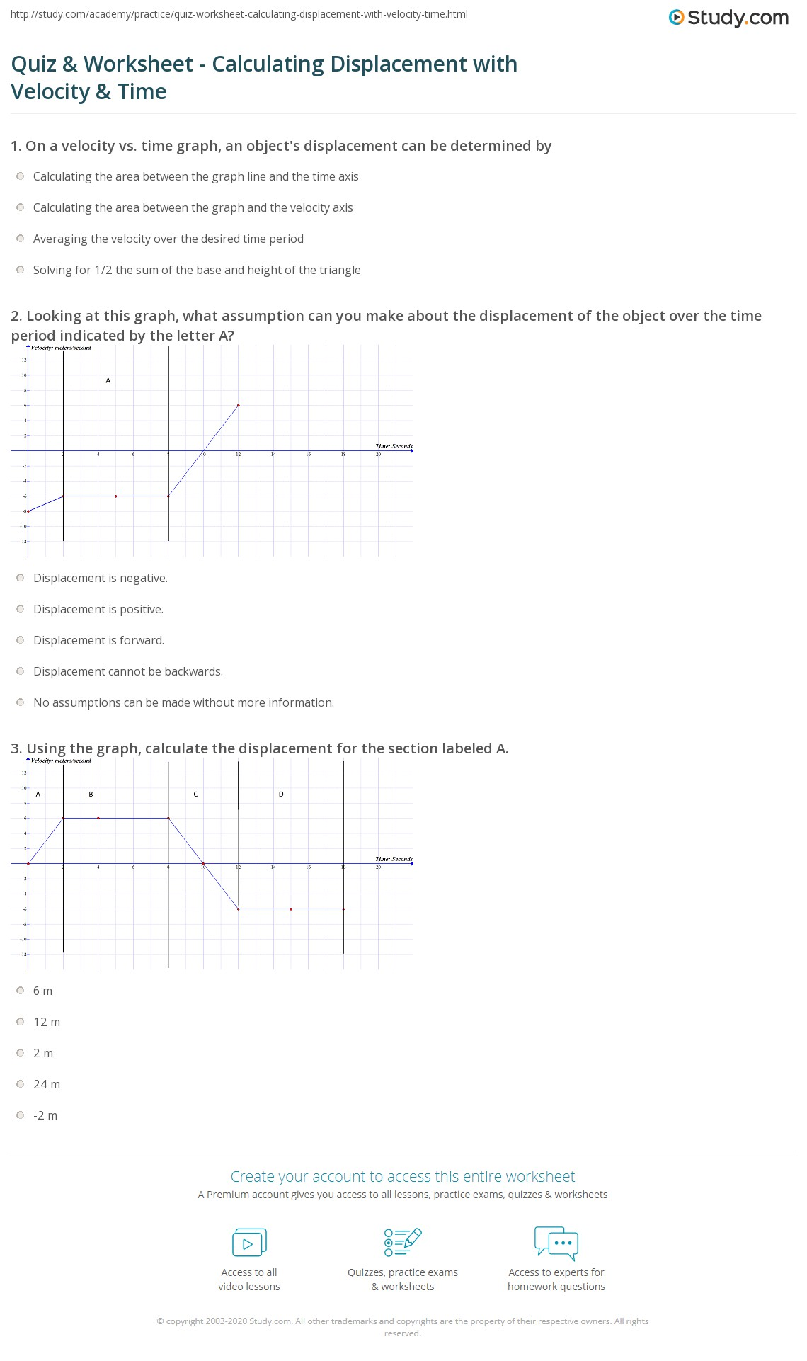 Holt Graph Skills Displacement And Velocity Answers