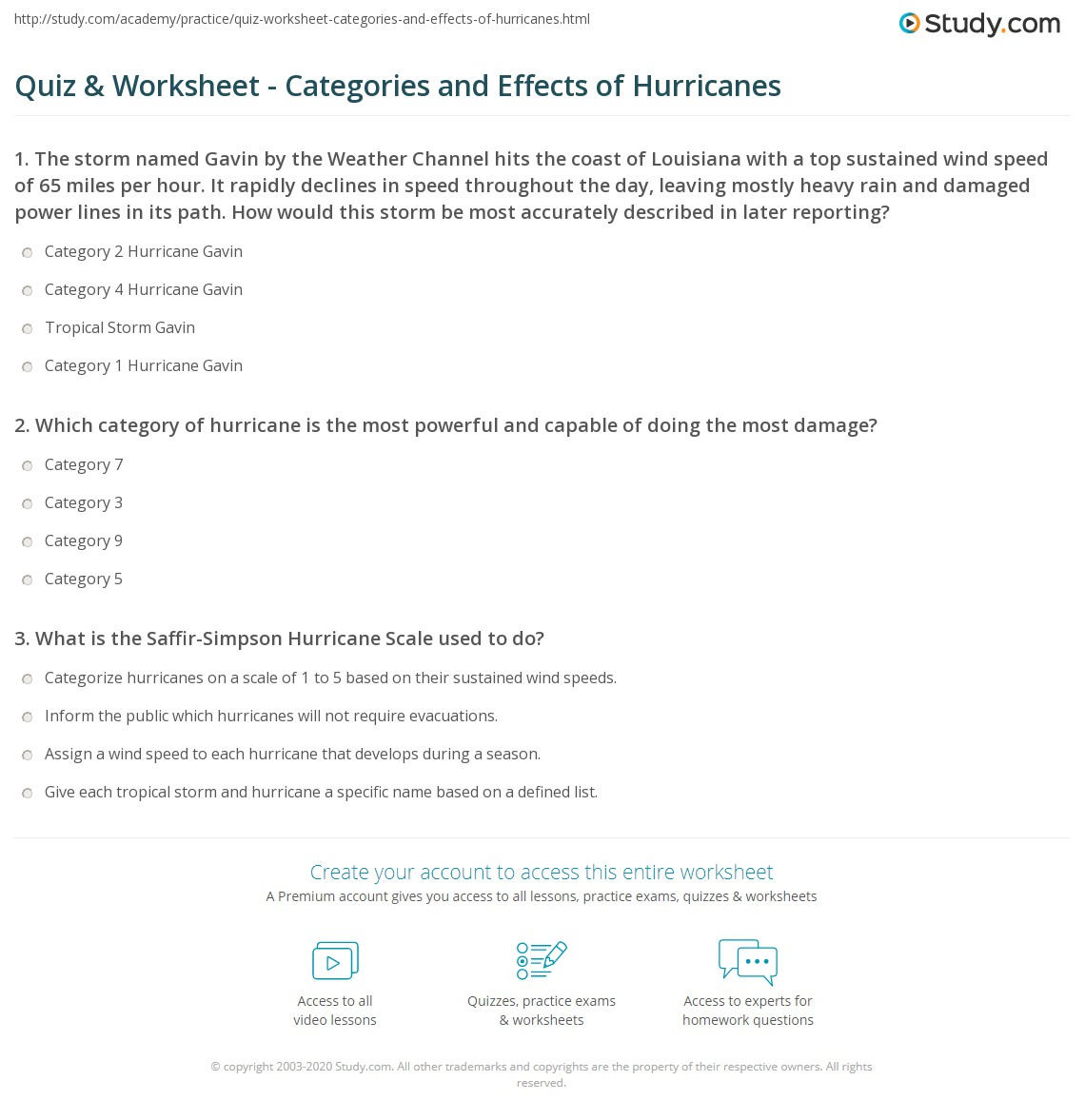 Hurricane Tracking Worksheet Answers Car Insurance Cover Hurricane Damage