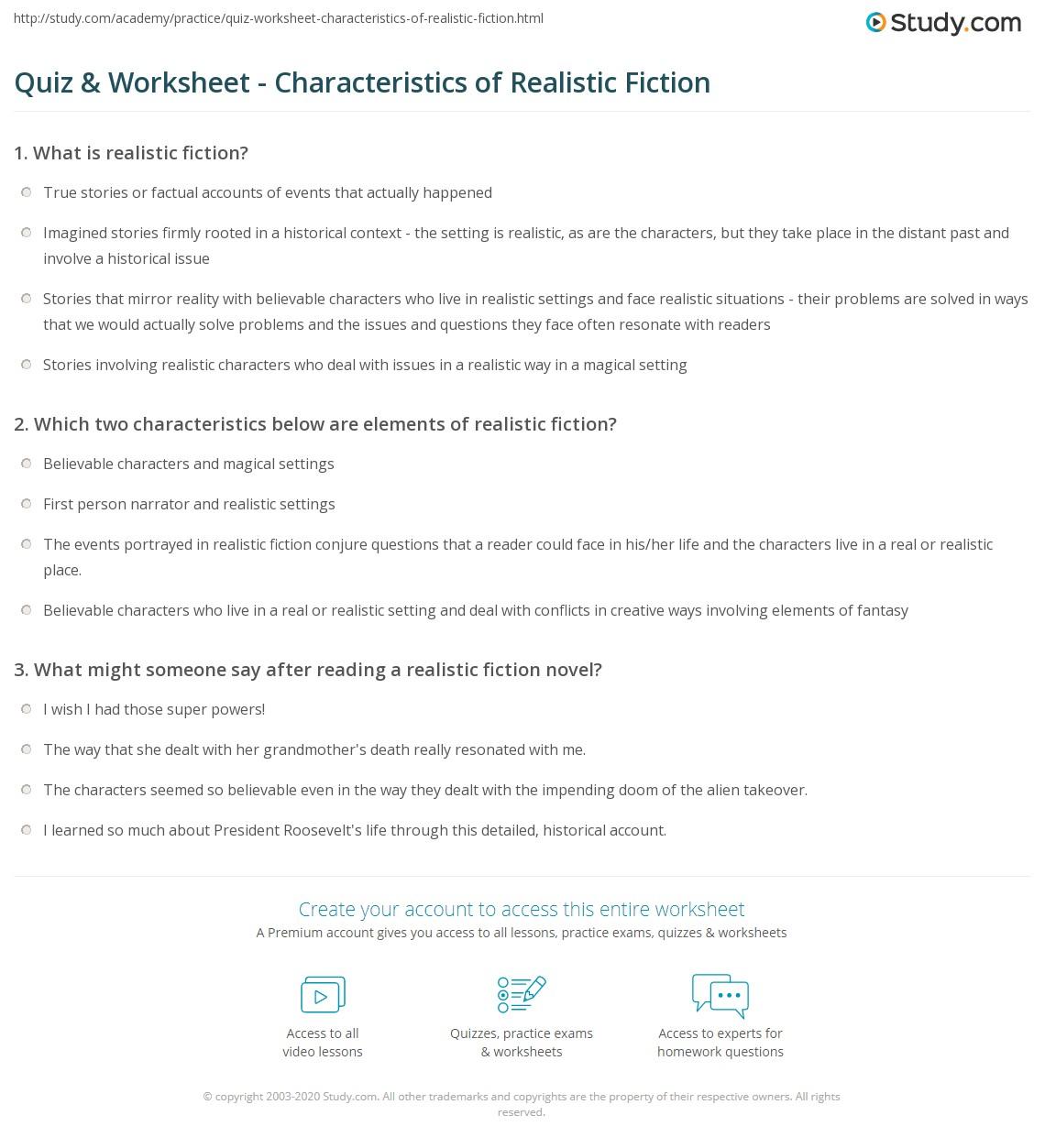 Non Realistic Fiction Definition Contemporary Realistic