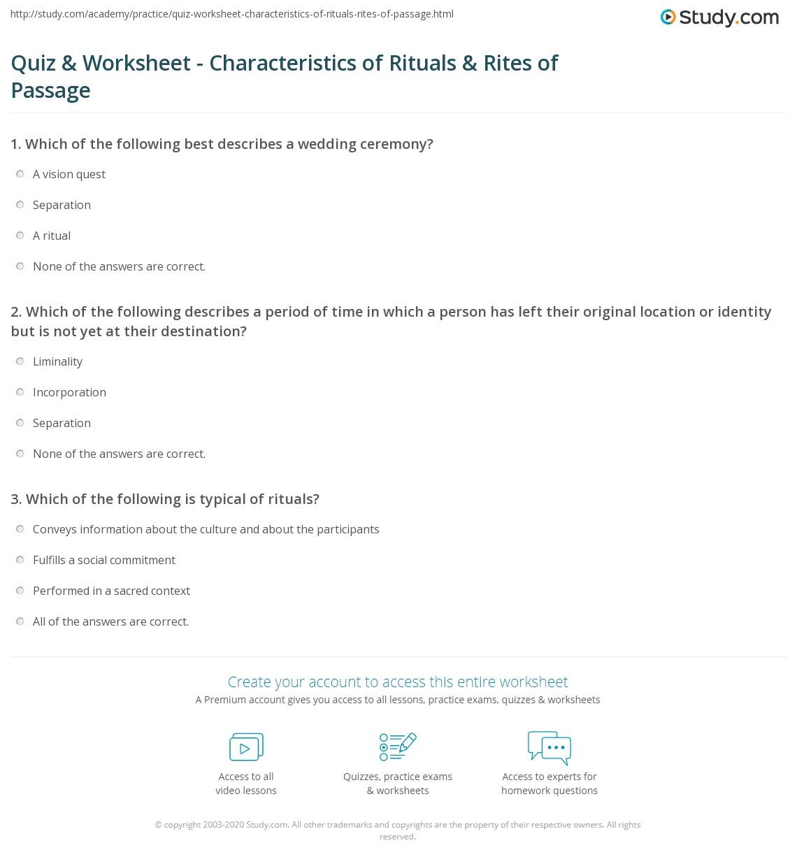 Ritual Planning Worksheet