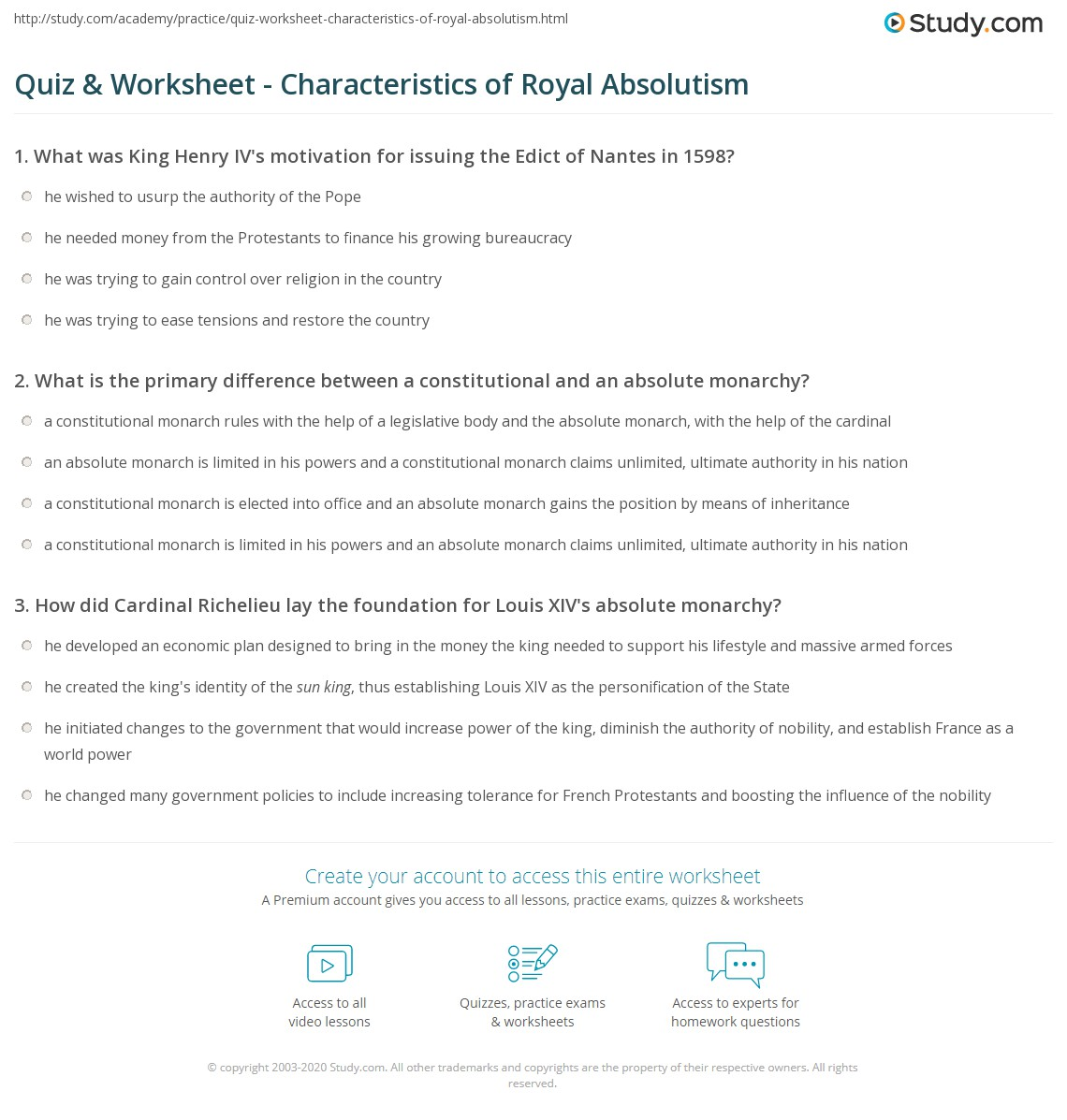 Printables Of Conflict And Absolutism In Europe Worksheet Answers