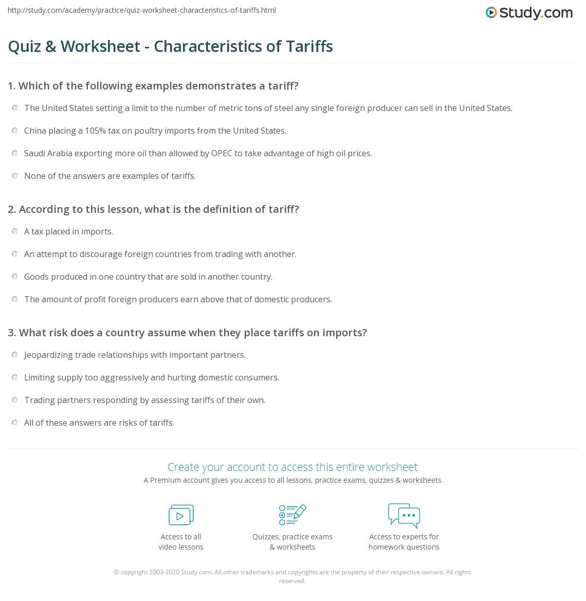 Opec Worksheet