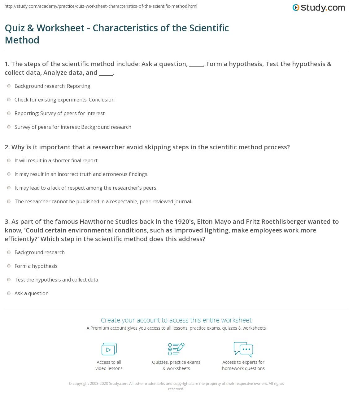 Scientific Equations Worksheet