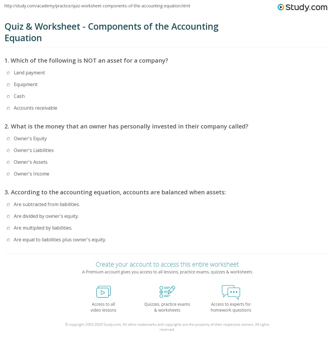 30 Expanded Accounting Equation Worksheet