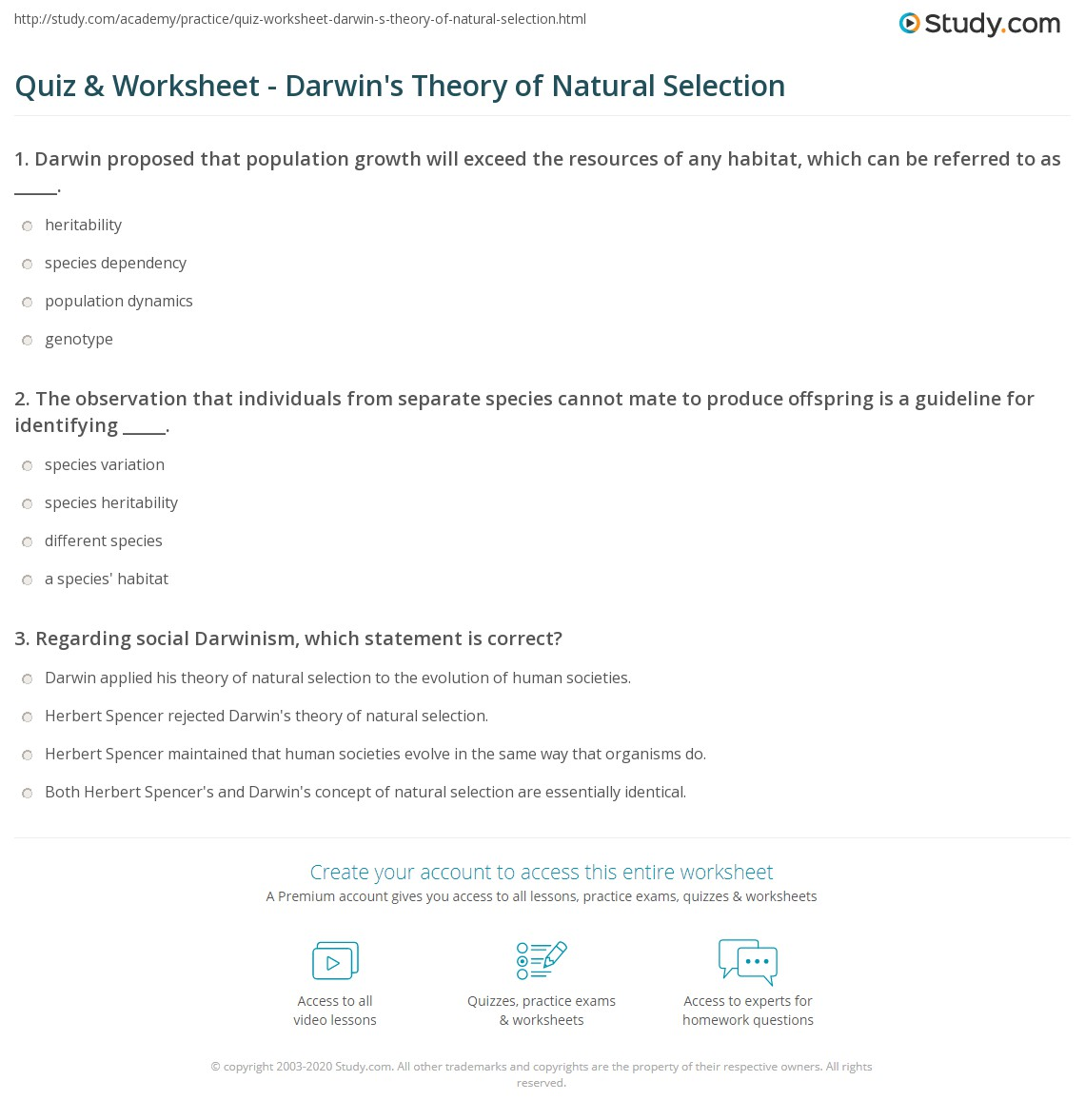 Textbook Quiz Worksheet