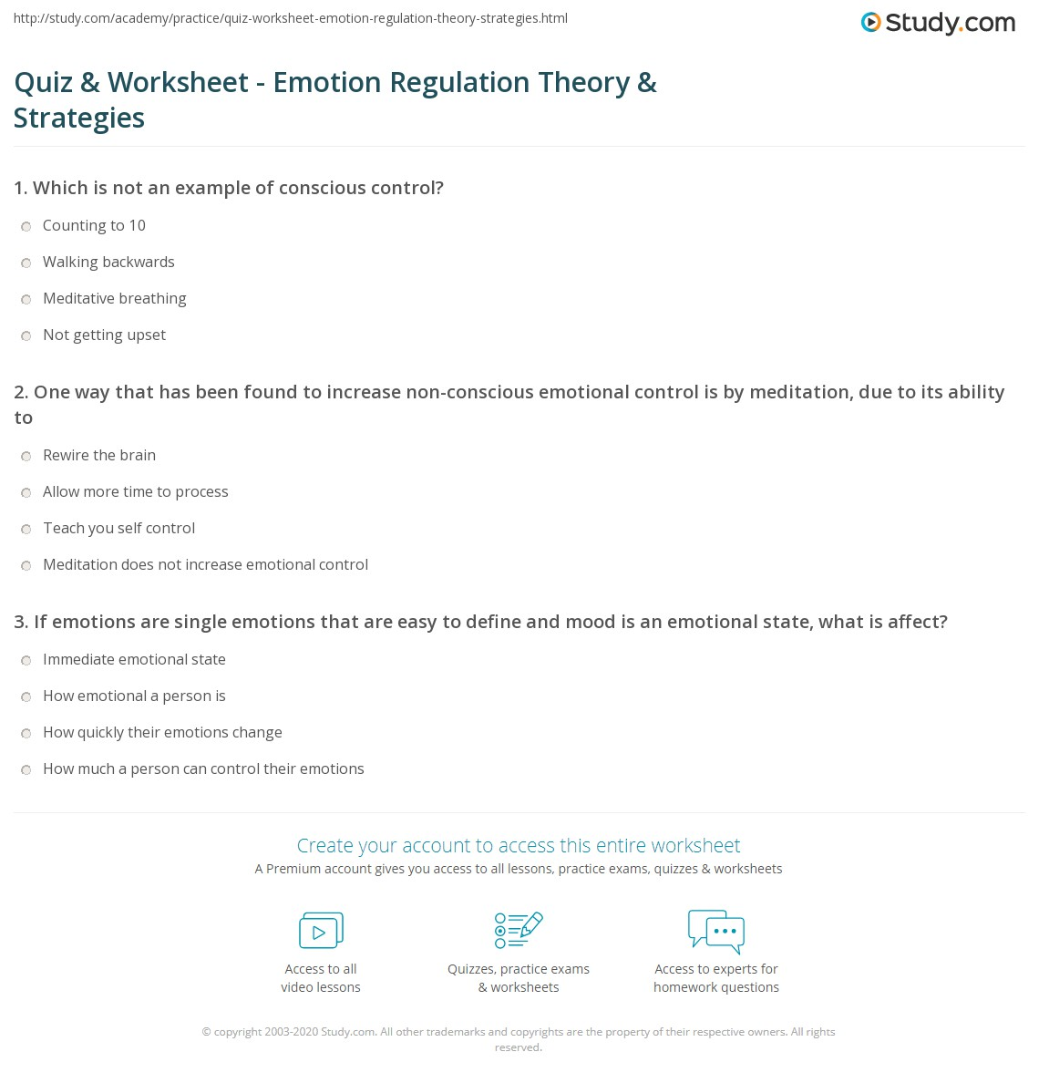 Emotion Regulation Worksheet Worksheets Tutsstar