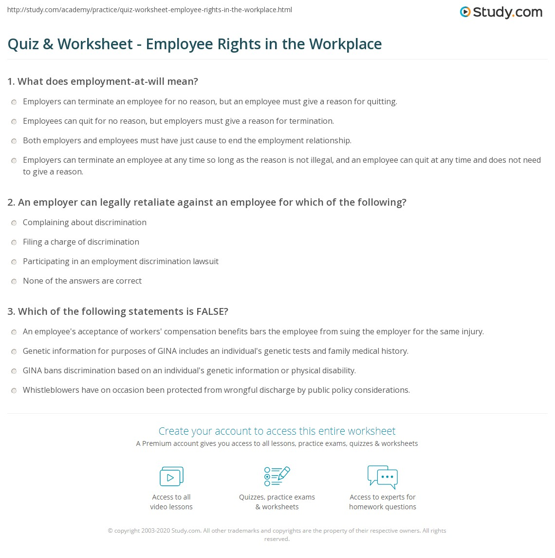 Unemployment Practice Worksheet