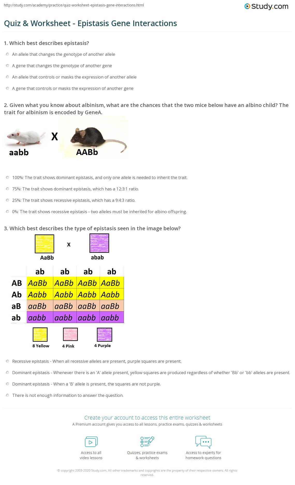 Multiple Alleles Worksheet Worksheets Tutsstar Thousands