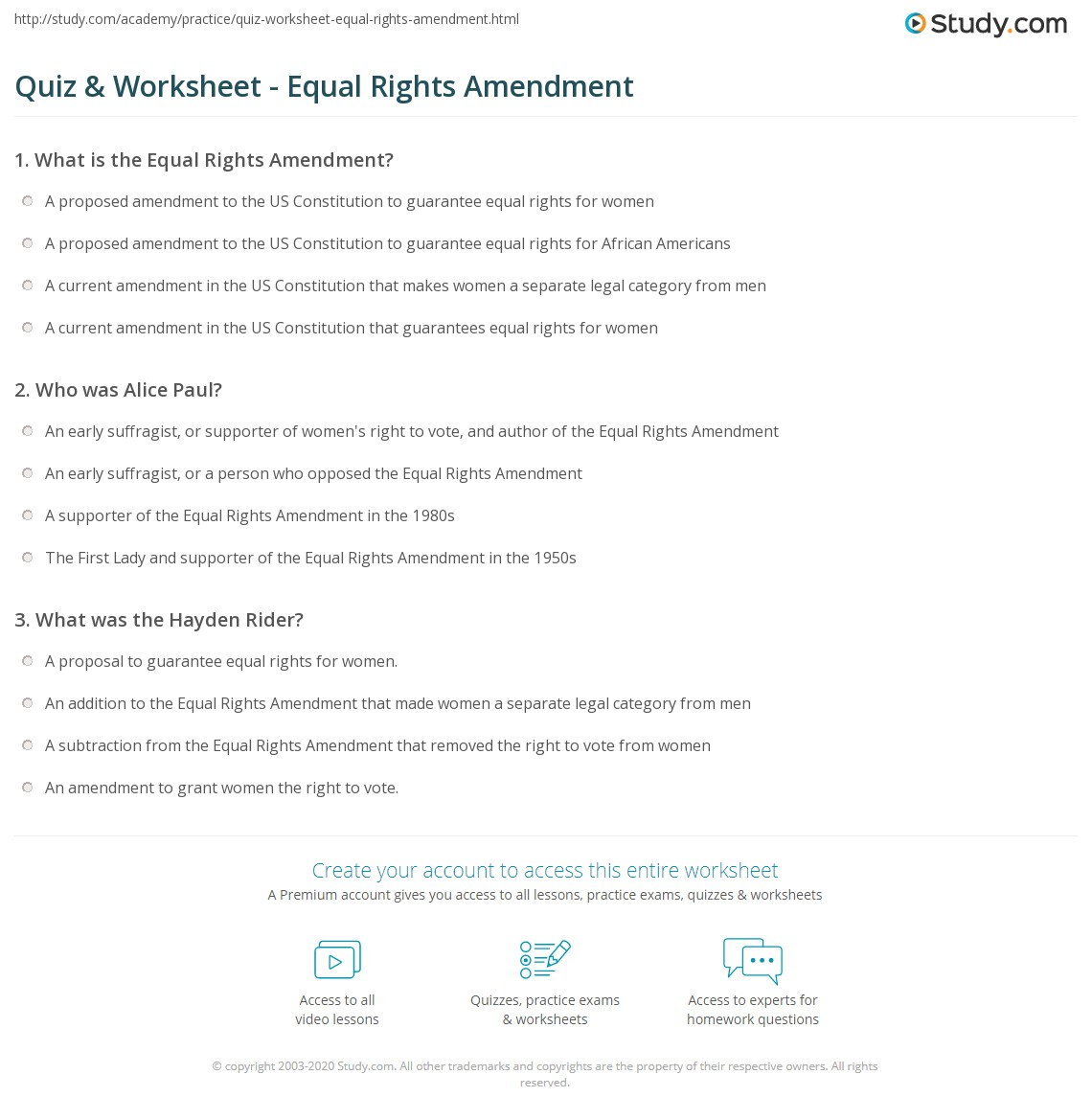 Worksheets Constitutional Amendments Worksheet