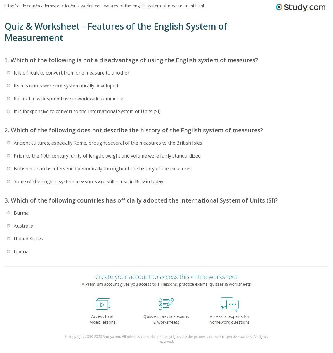 Worksheet Converting Units Of Measurement Worksheets