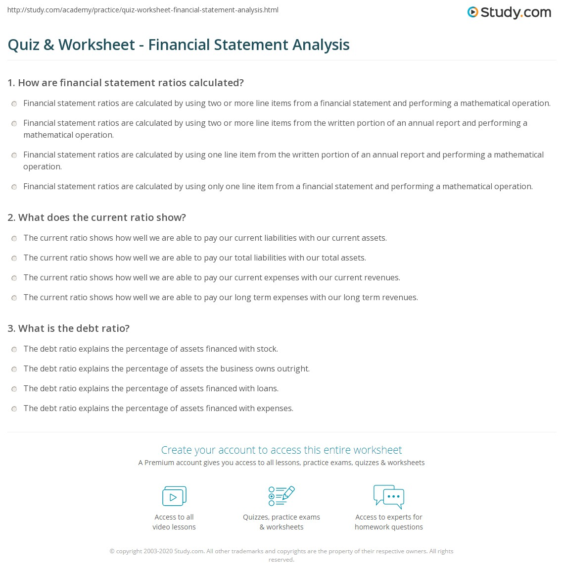 Ratio And Financial Statementysis
