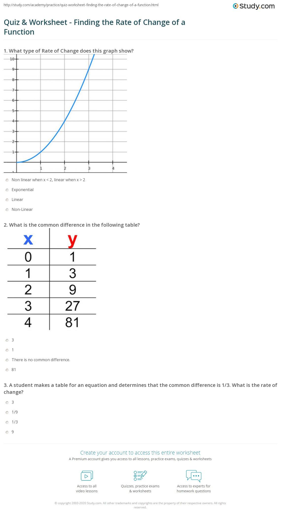 28 Rate Of Change Worksheet