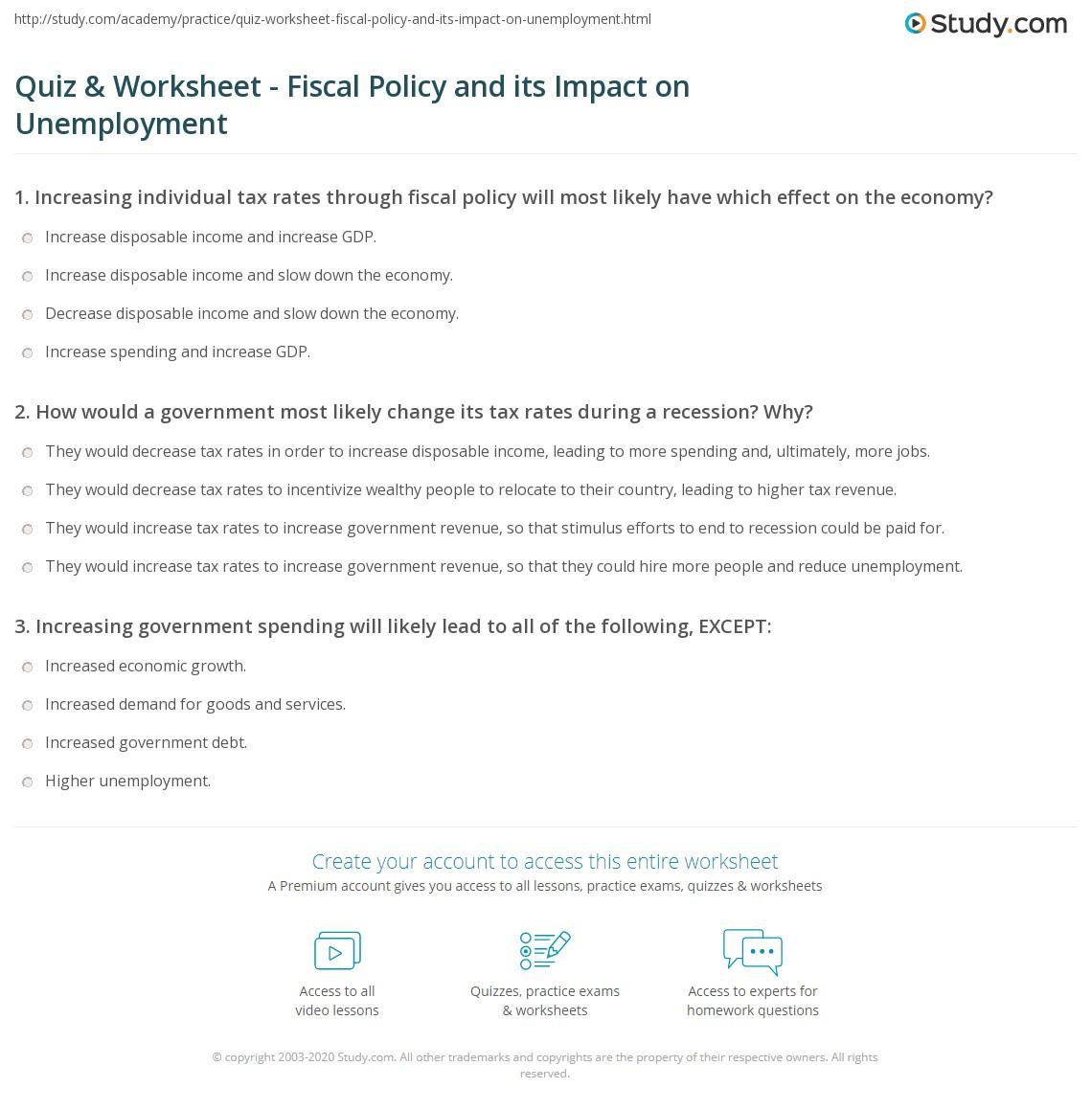 Gdp Worksheet