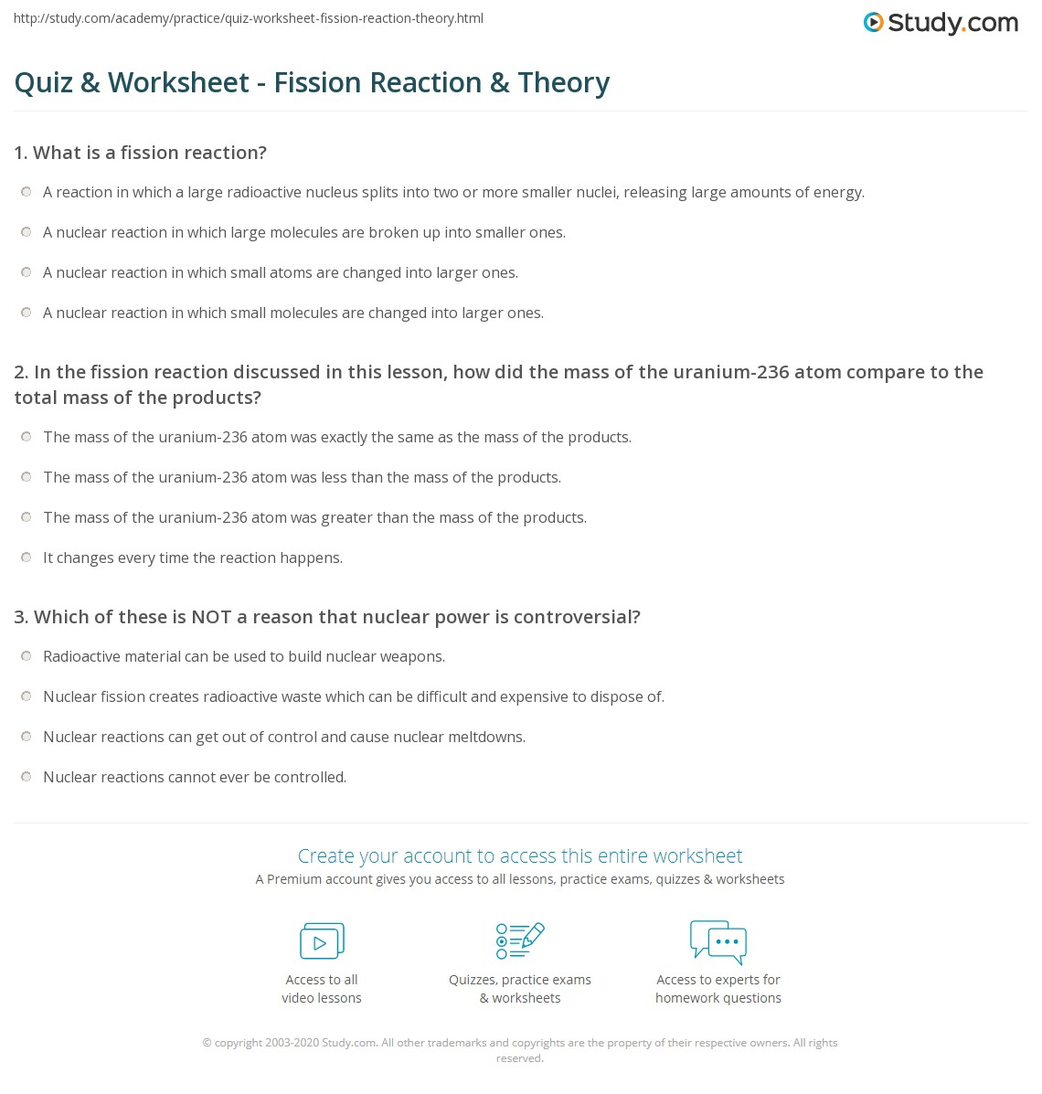 Nuclear Fission And Fusion Worksheet Worksheets For School