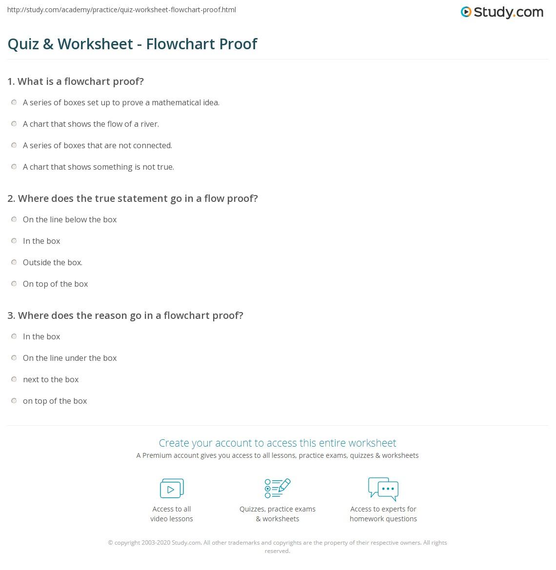 Quiz W Ksheet Flowch Rt Proof Study