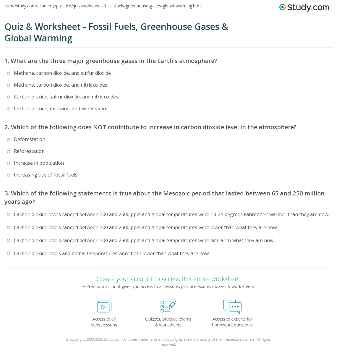 Greenhouse Effect Worksheet Worksheets Tutsstar Thousands Of Printable Activities