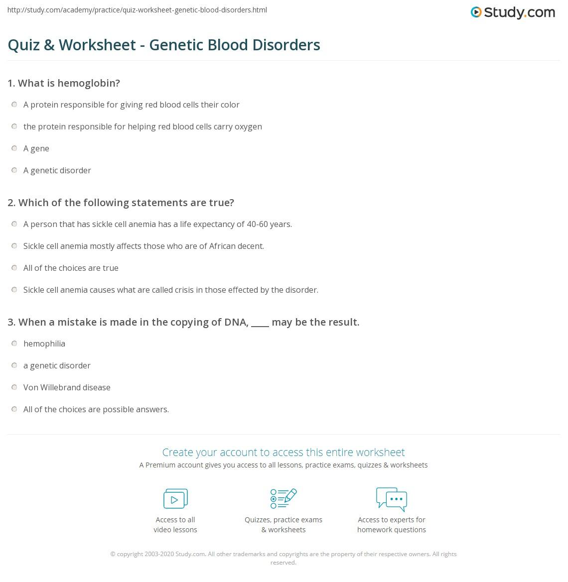 7th Grade Genetics Worksheets