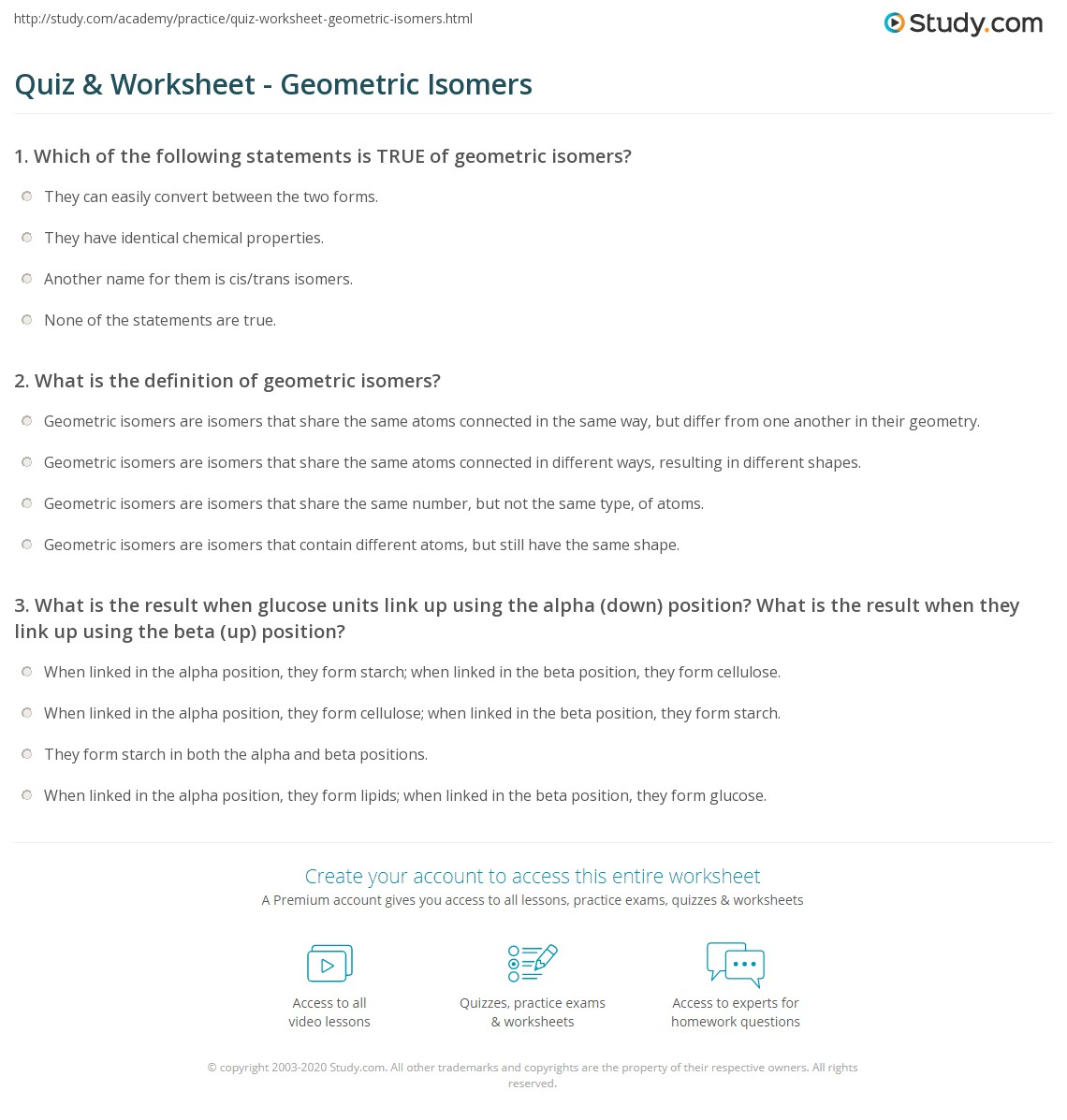 Isomers Worksheet Worksheets For School