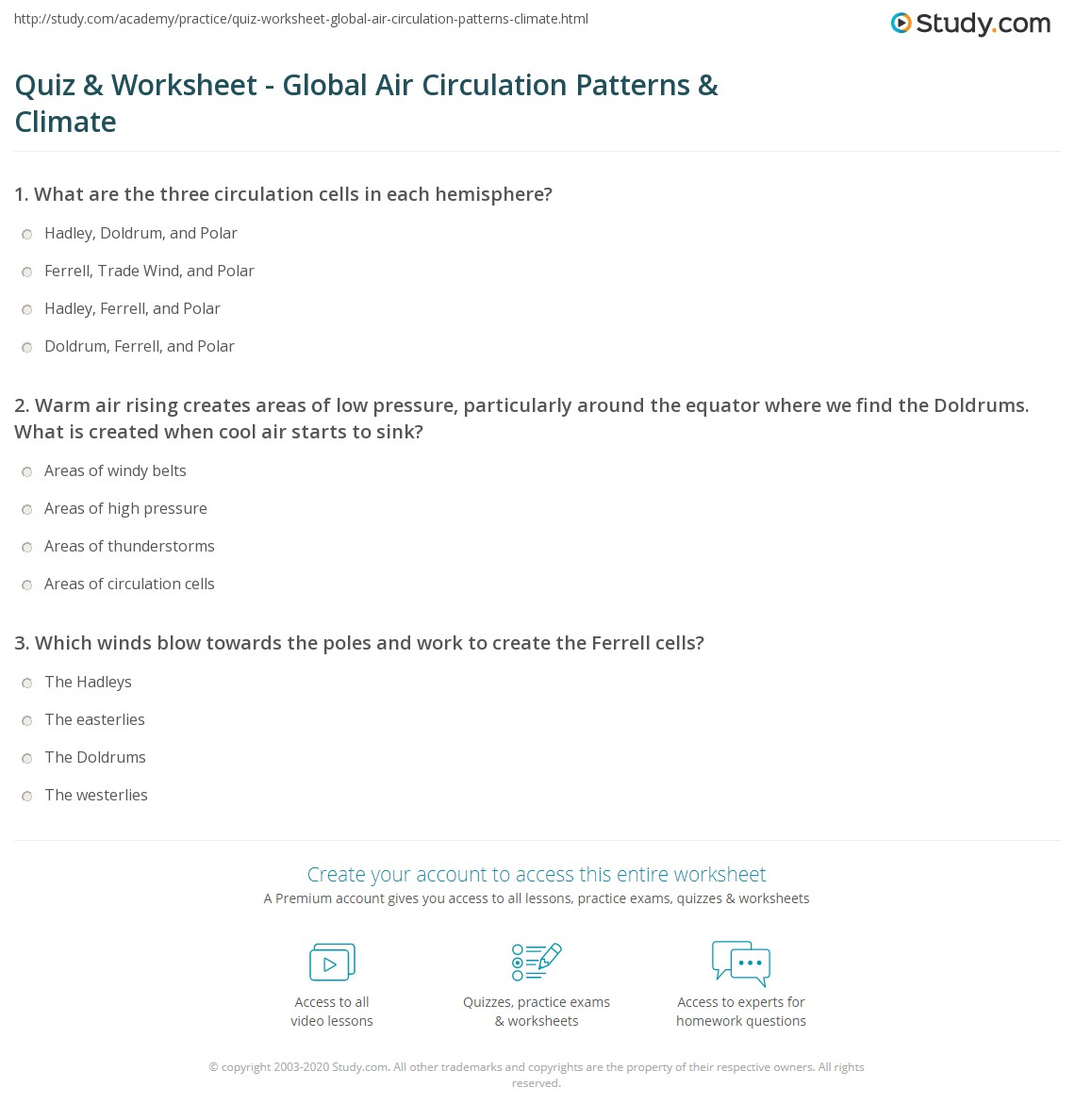 Weather Watch Worksheet Answers