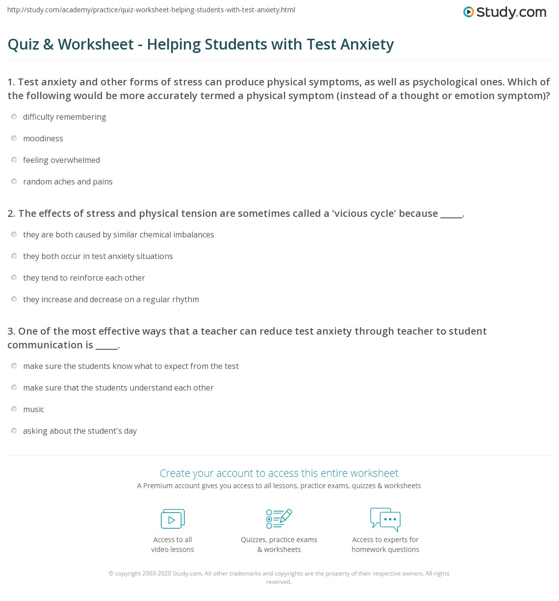 Worksheets Anxiety Worksheets For Children Cheatslist