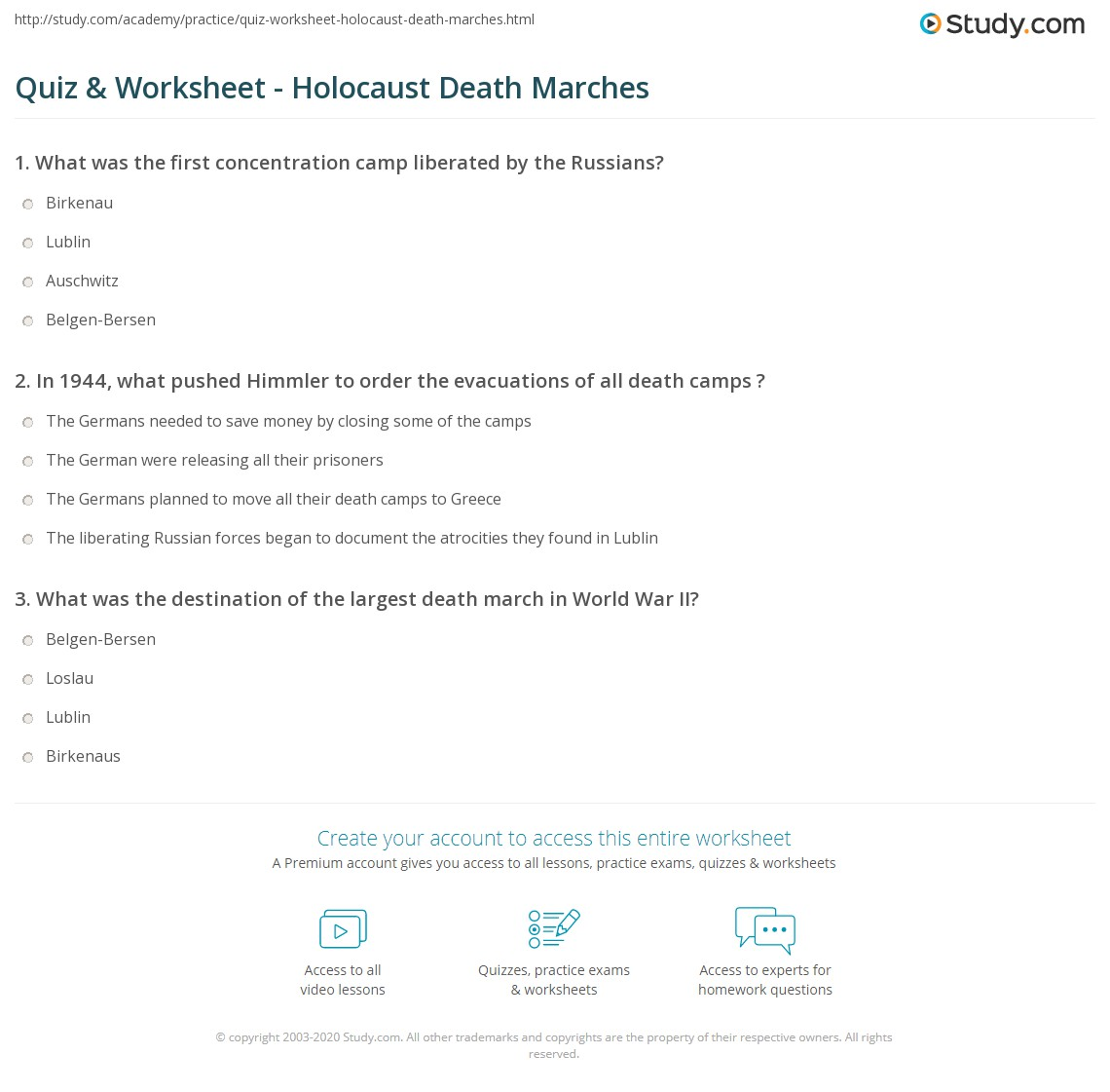 Introduction To The Holocaust Worksheet Answers