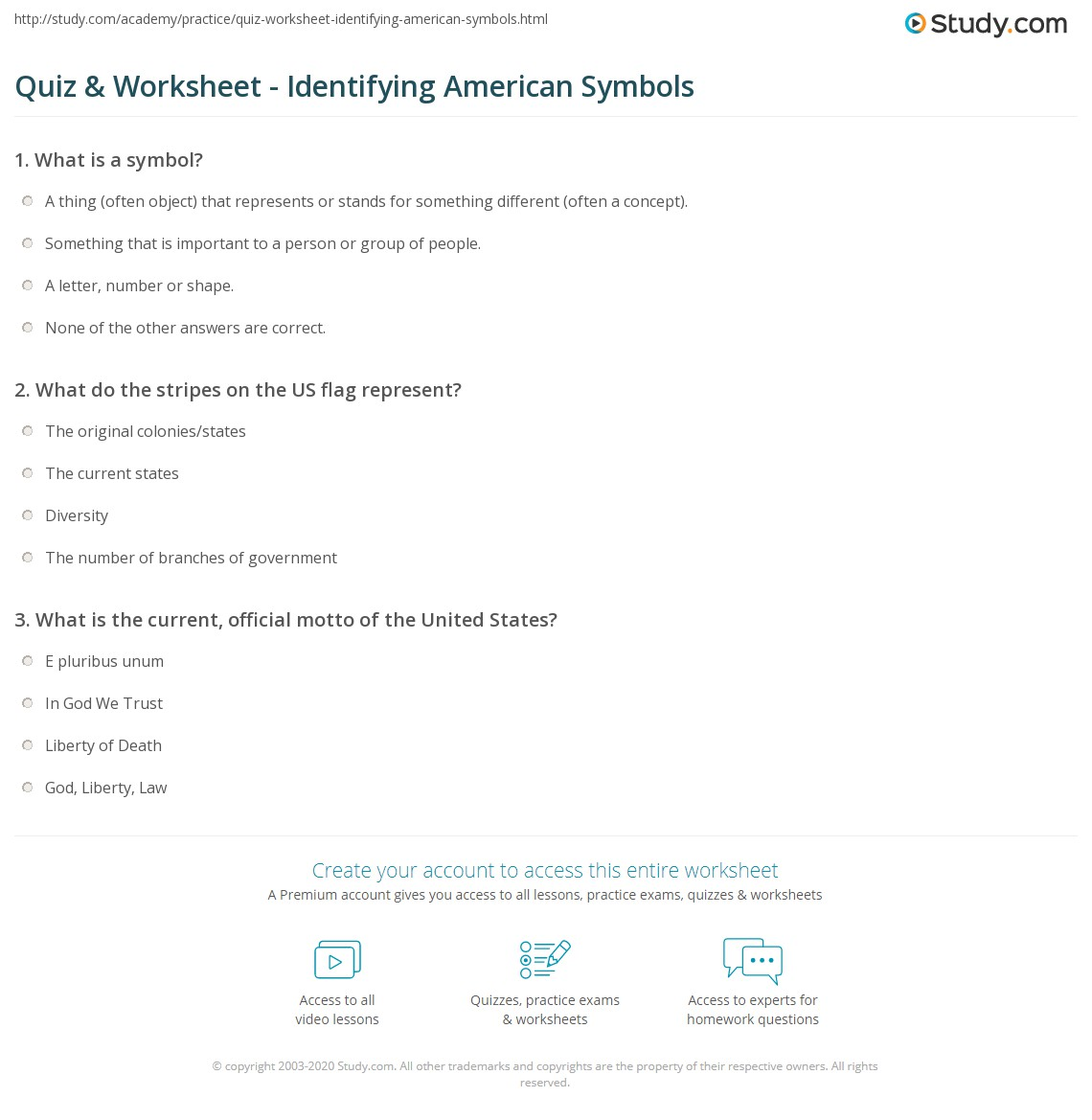 Quiz W Ksheet Ident Y G Meric N Symbols Study