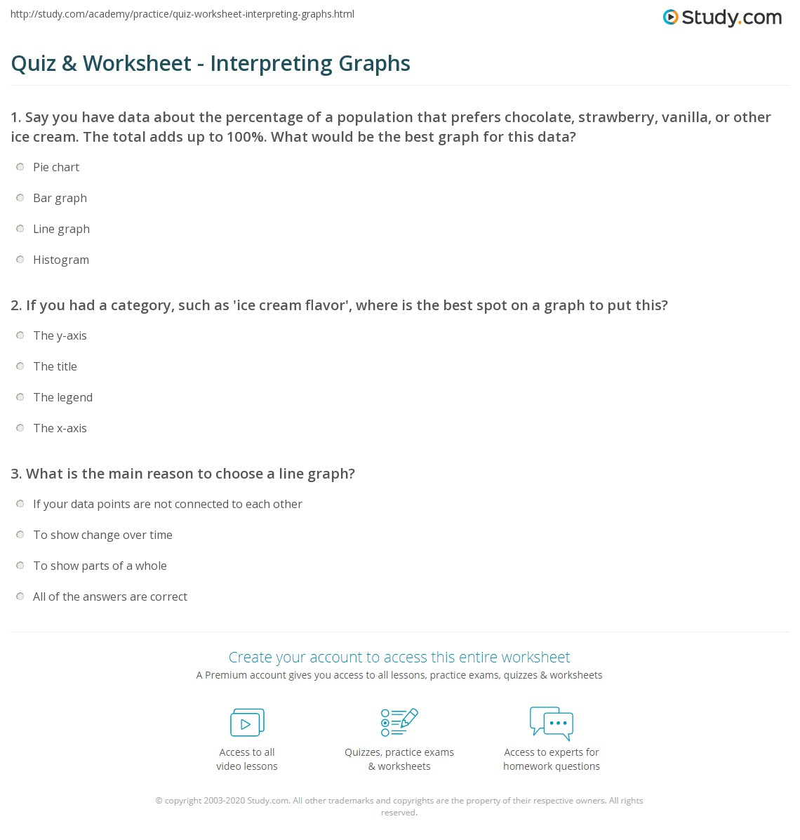 Worksheet Interpreting Line Graphs Worksheet Worksheet