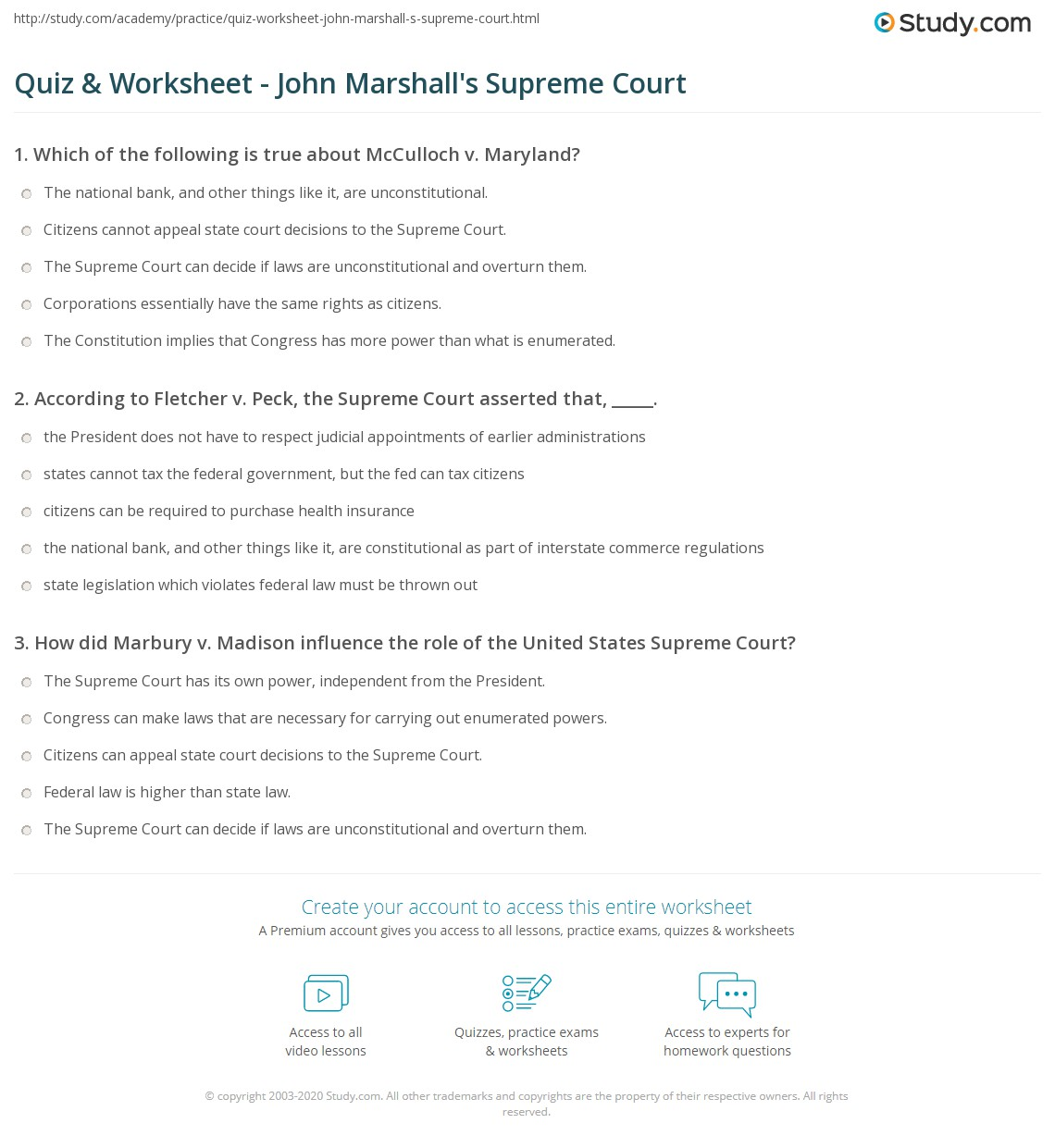 Printables Of Mcculloch V Maryland Worksheet