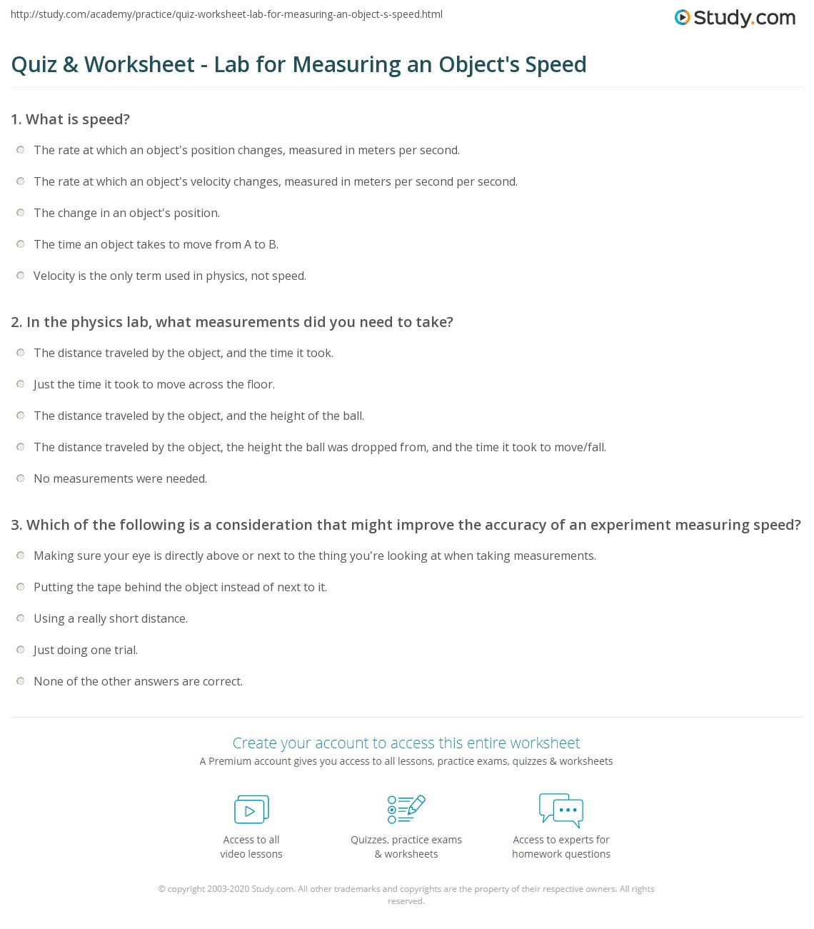 Measuring Objects Worksheet