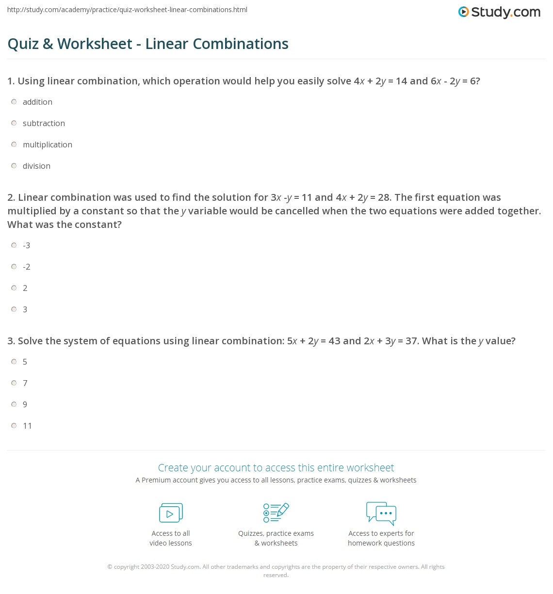 3 8 Skills Practice Solving Systems Of Equations Using