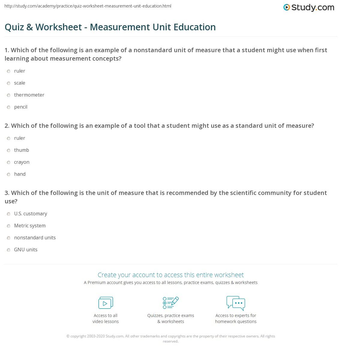 Non Standard Measurement Worksheets Kindergarten How Long