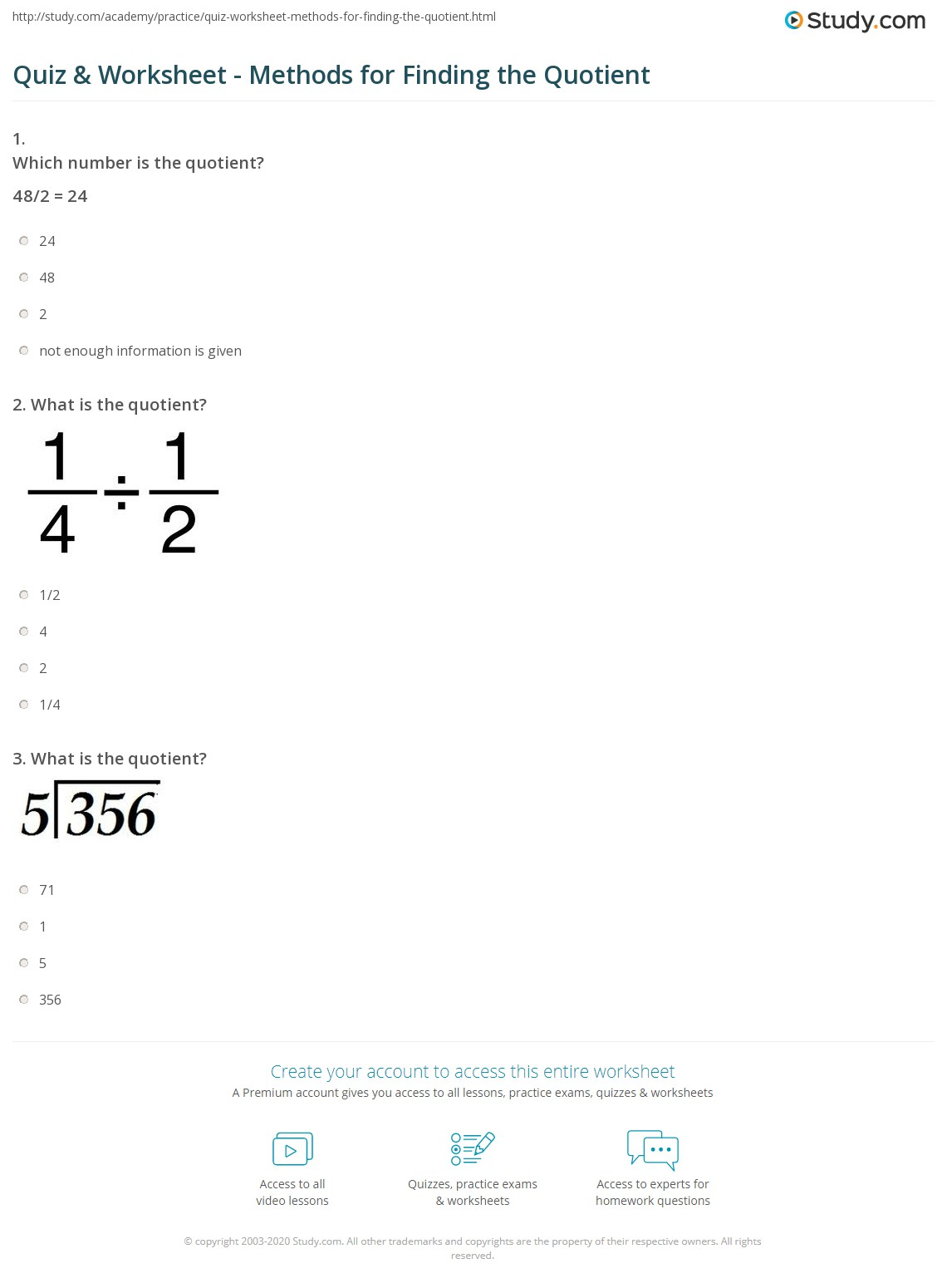 Partial Quotient Division Worksheet 4th Grade
