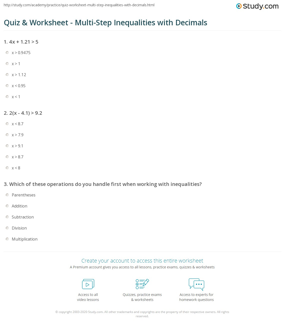 Solving Equations With Distributive Property Worksheet