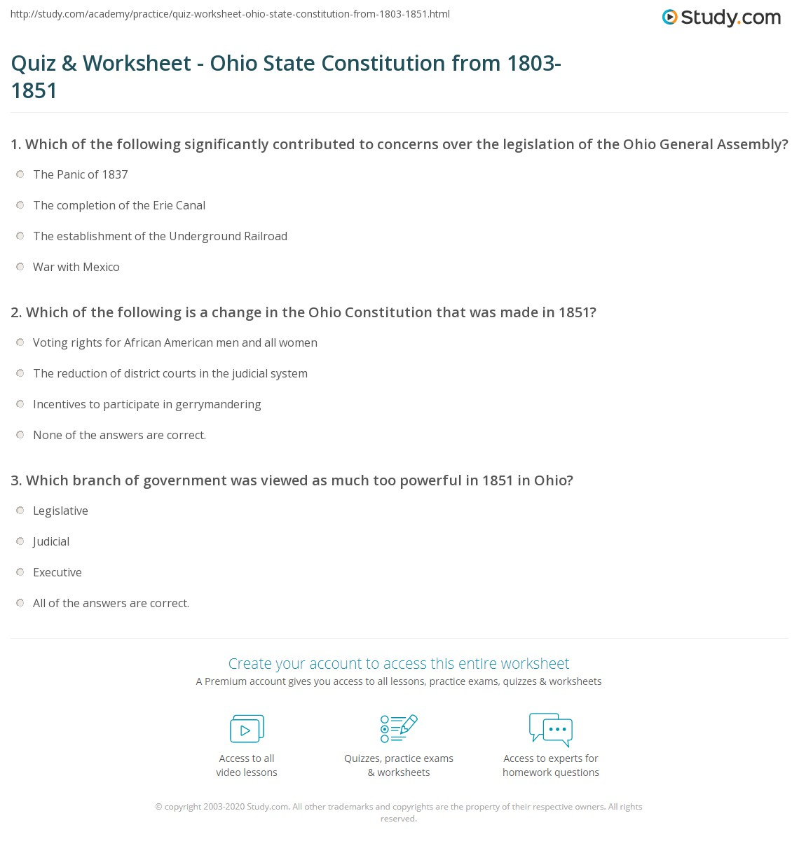 The Great State Worksheet Answers Icivics