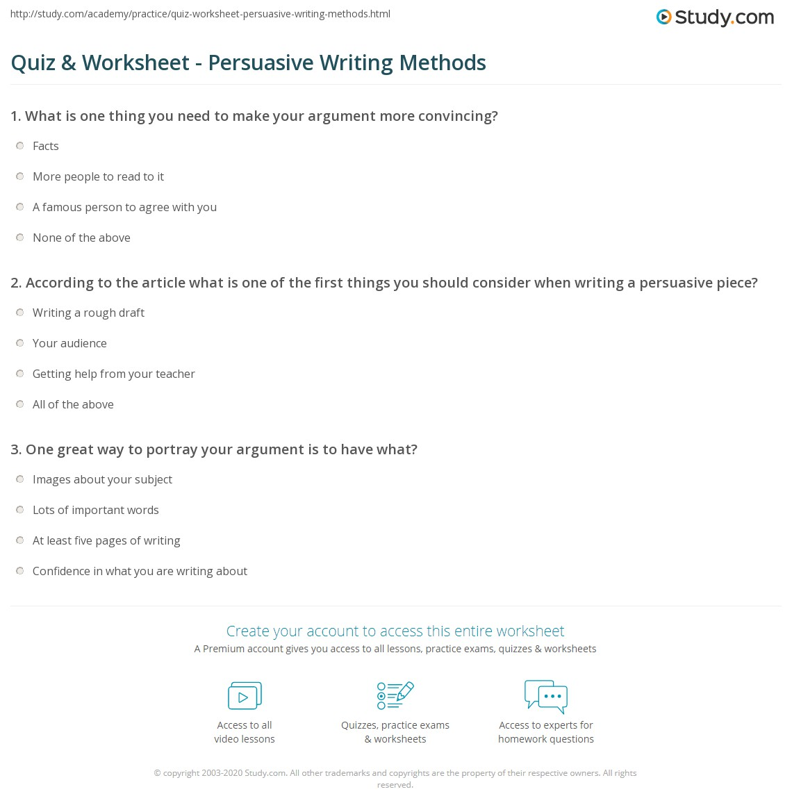 Worksheet Persuasive Writing Worksheets Grass Fedjp Worksheet Study Site