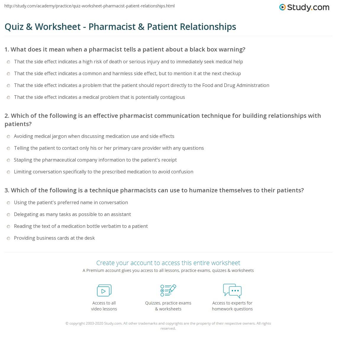 Pharmacy Math Worksheet