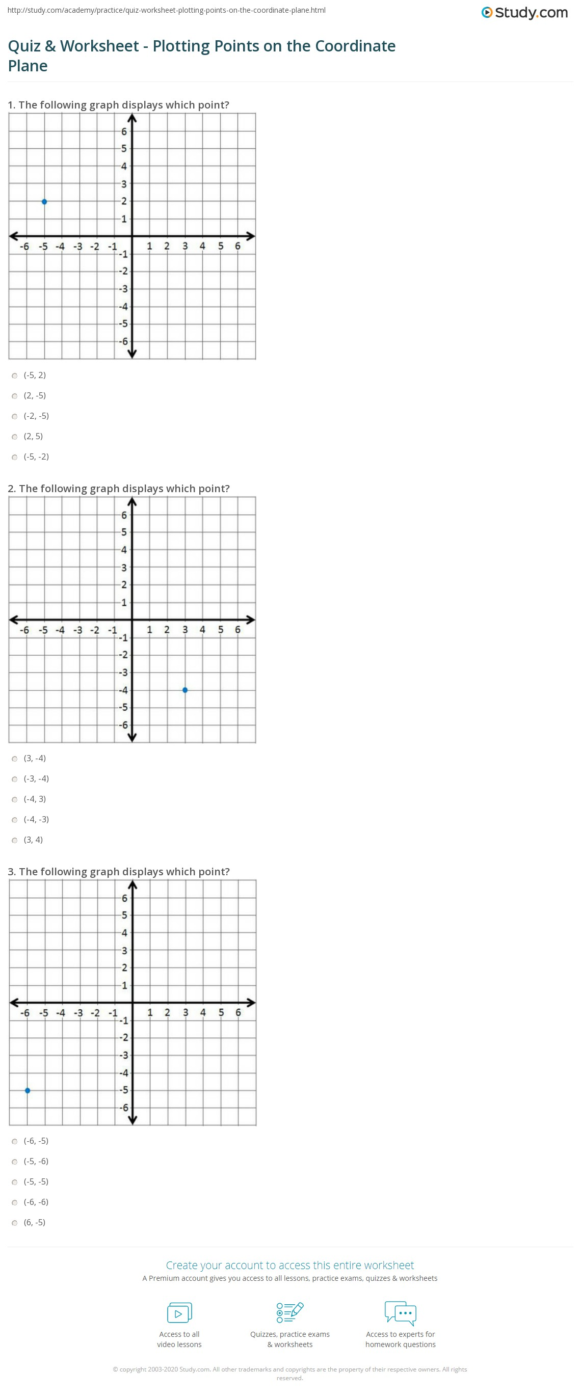 34 Coordinate Plane Practice Worksheet