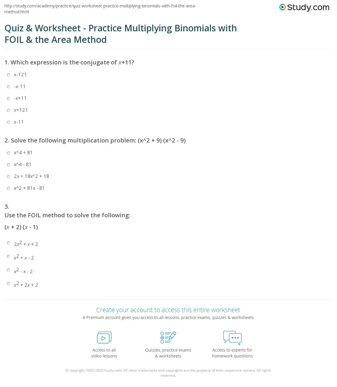7 6 Skills Practice Multiplying Polynomials Answers