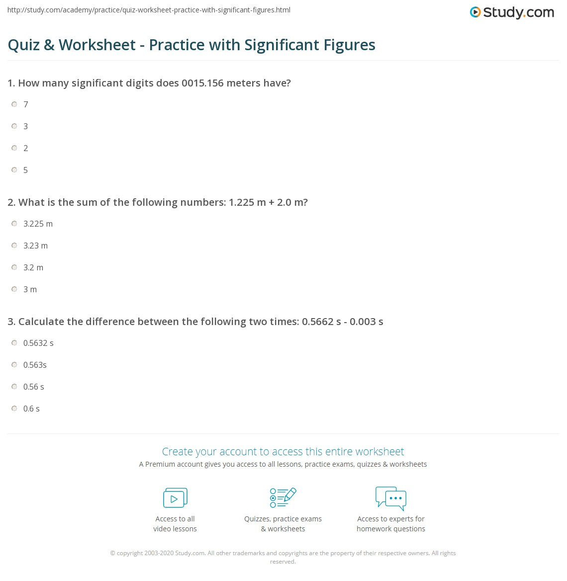 Calculations Using Significant Figures Worksheet Answers