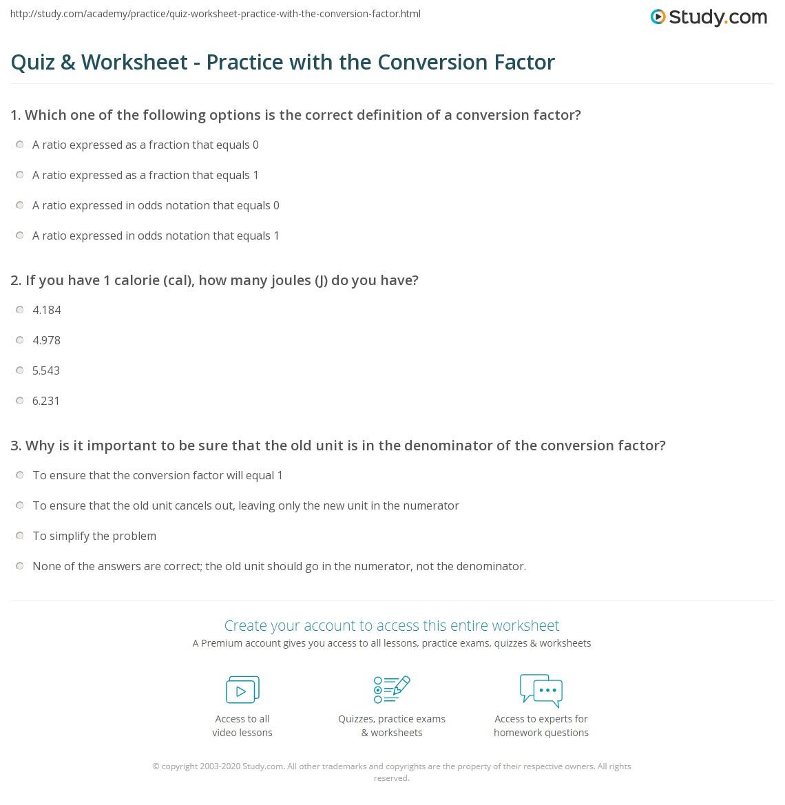 Worksheet Conversion Problems Worksheet Worksheet Fun